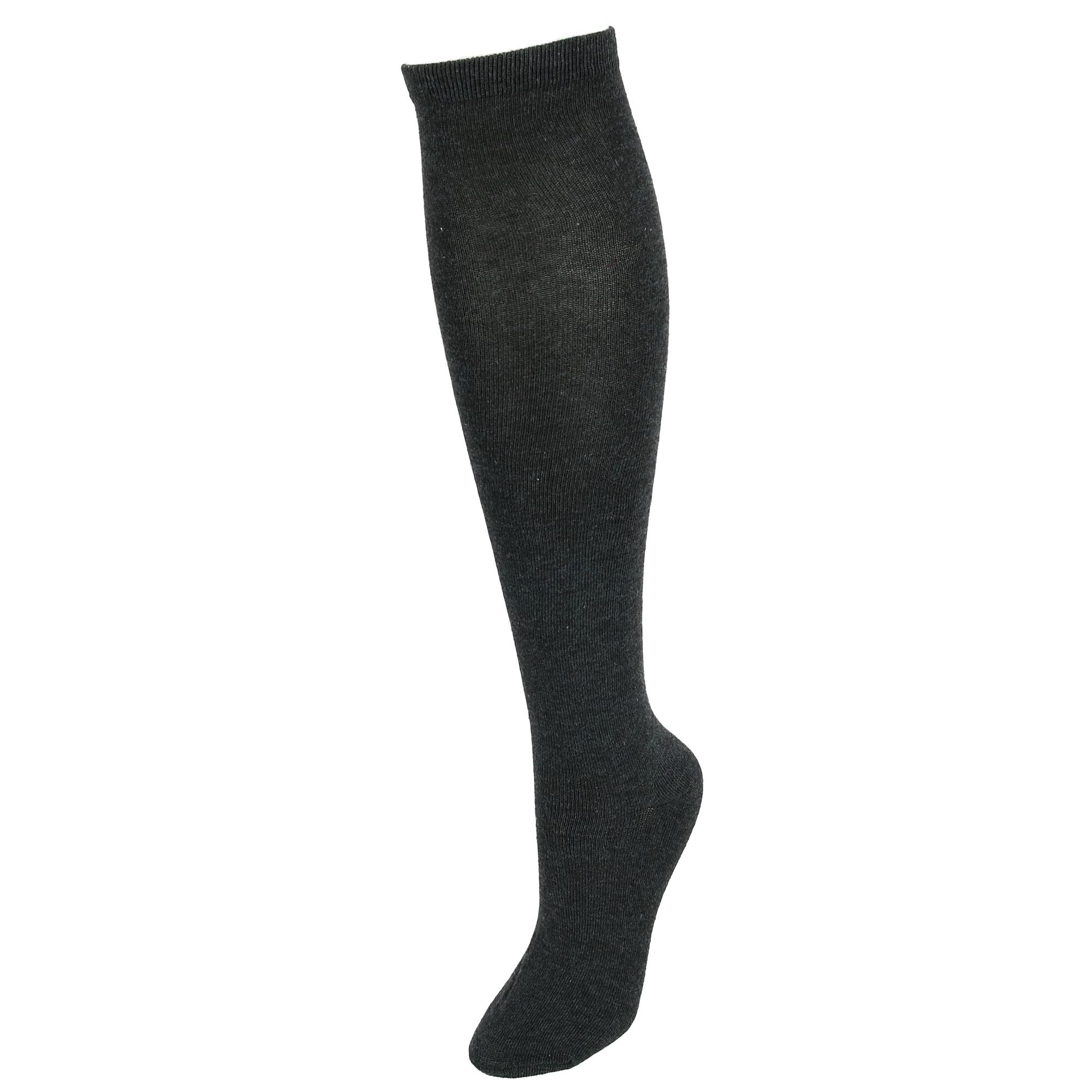 7d65b52e9c3 Details about New Densley   Co Women s Solid Knee High Socks (2 Pair Pack)
