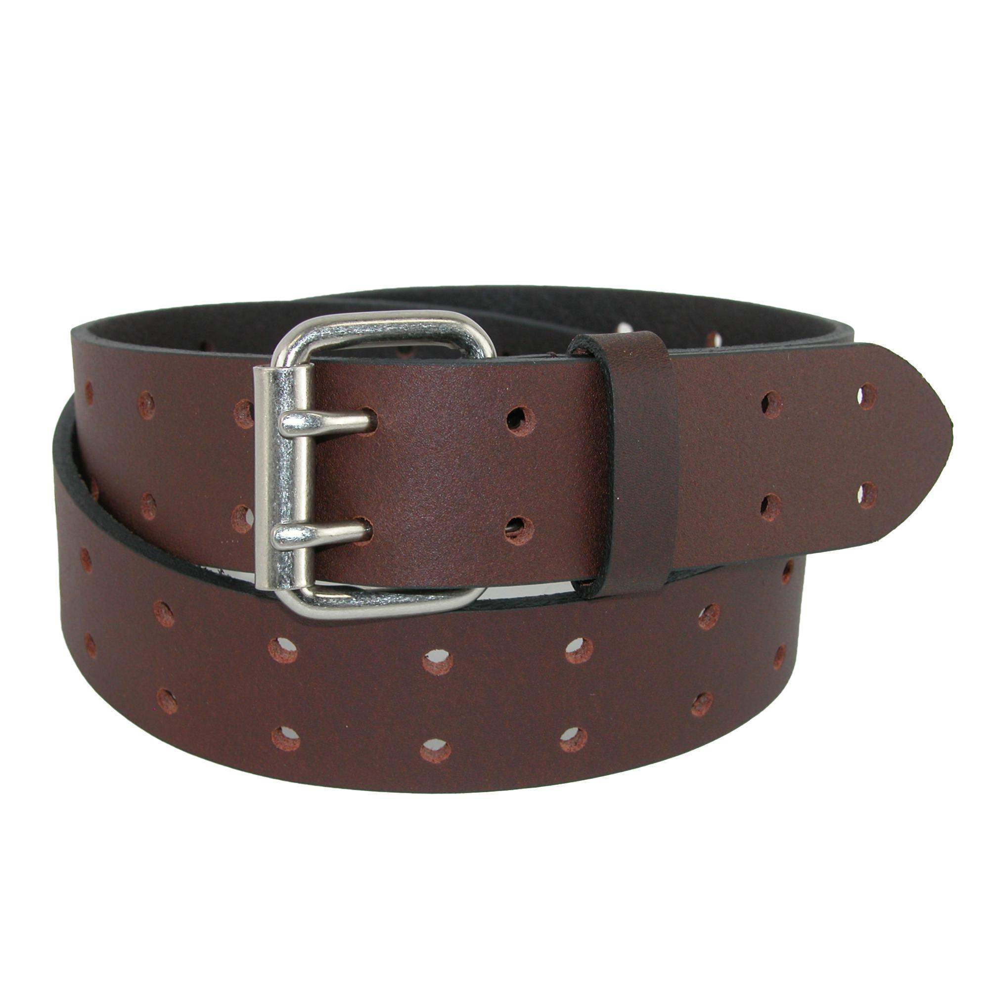 Dickies_Men's_Leather_Two_Hole_Double_Prong_Bridle_Belt_-_Brown_36