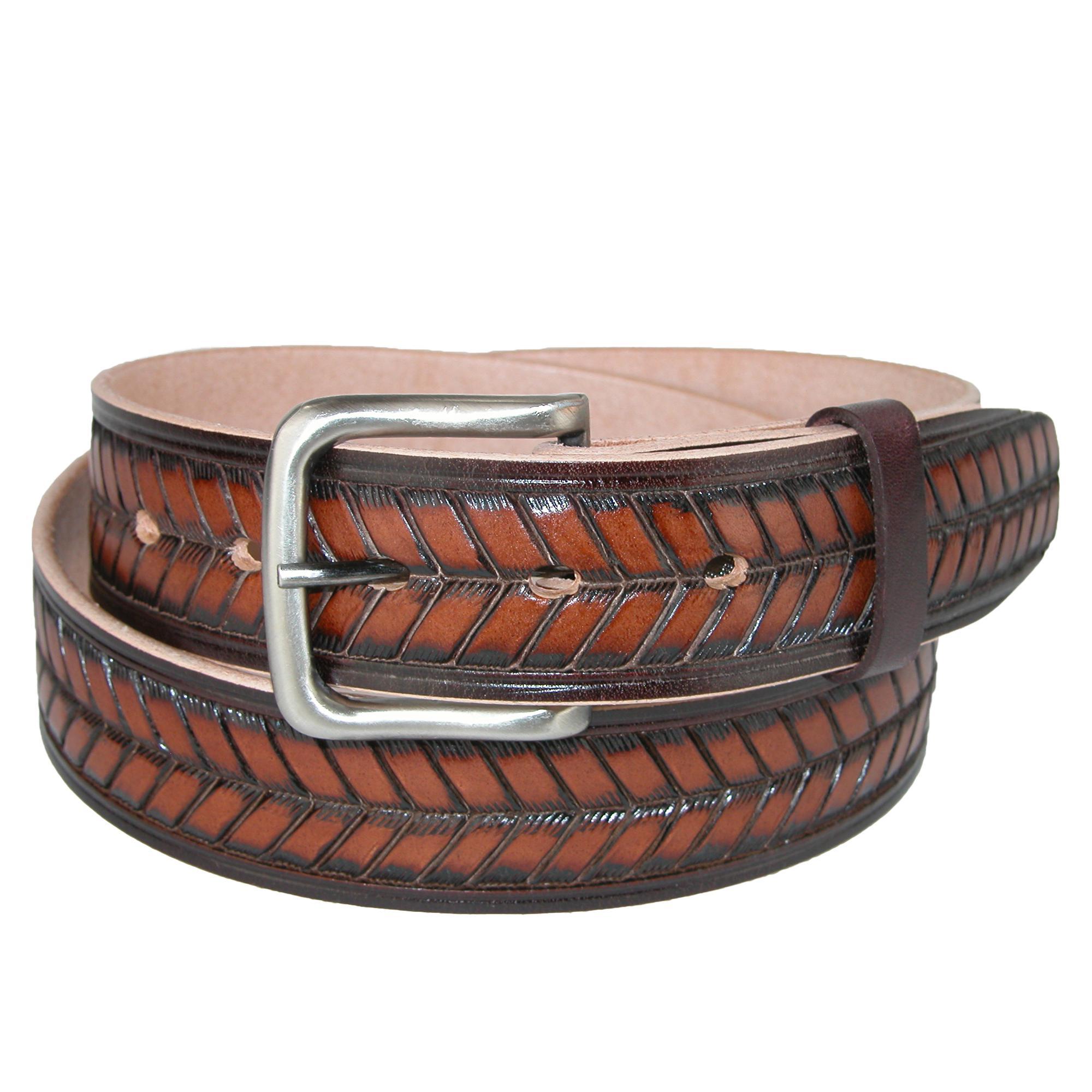 Ctm Mens Leather Arrow Belt