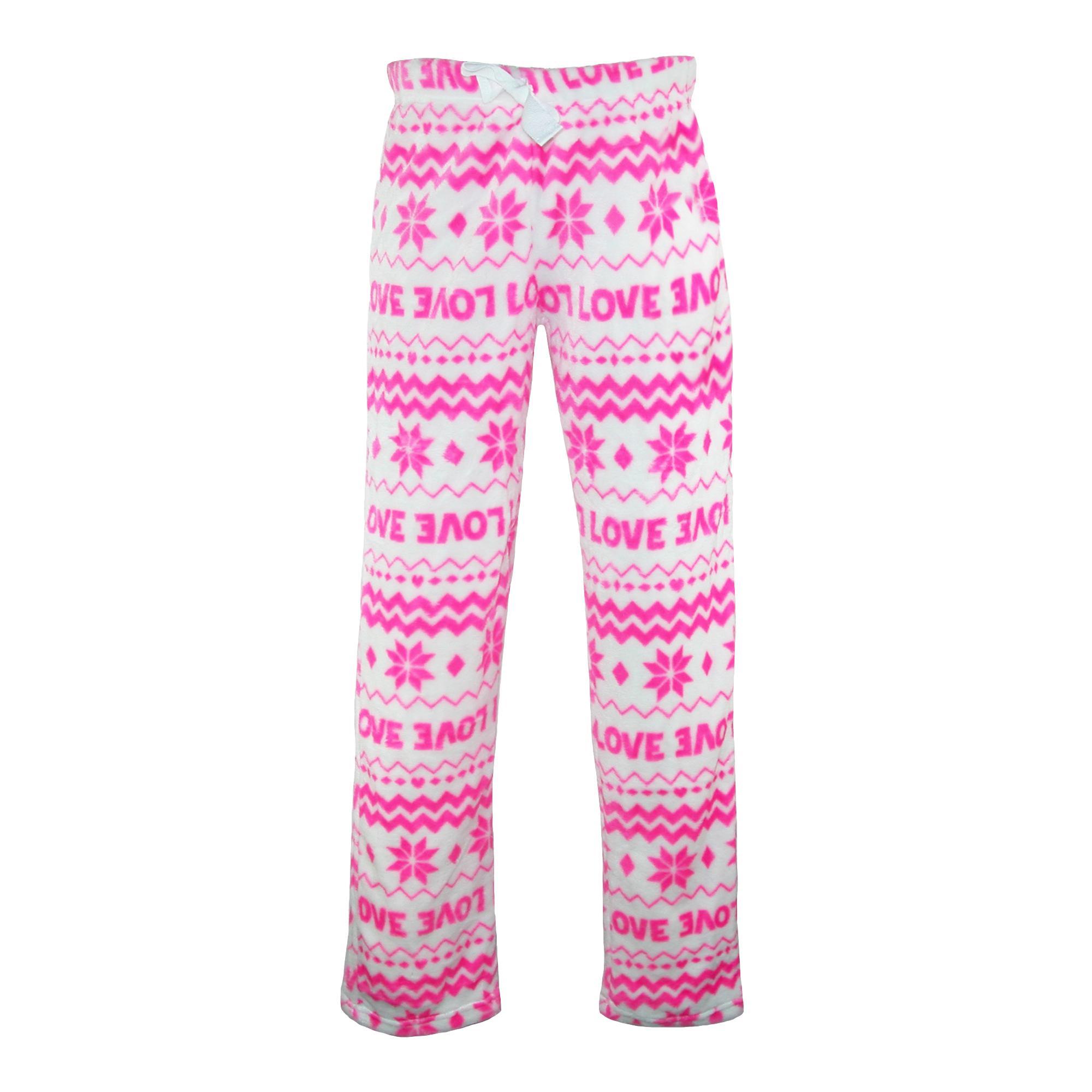 Em & Alfie Womens Plush Pajama Pants