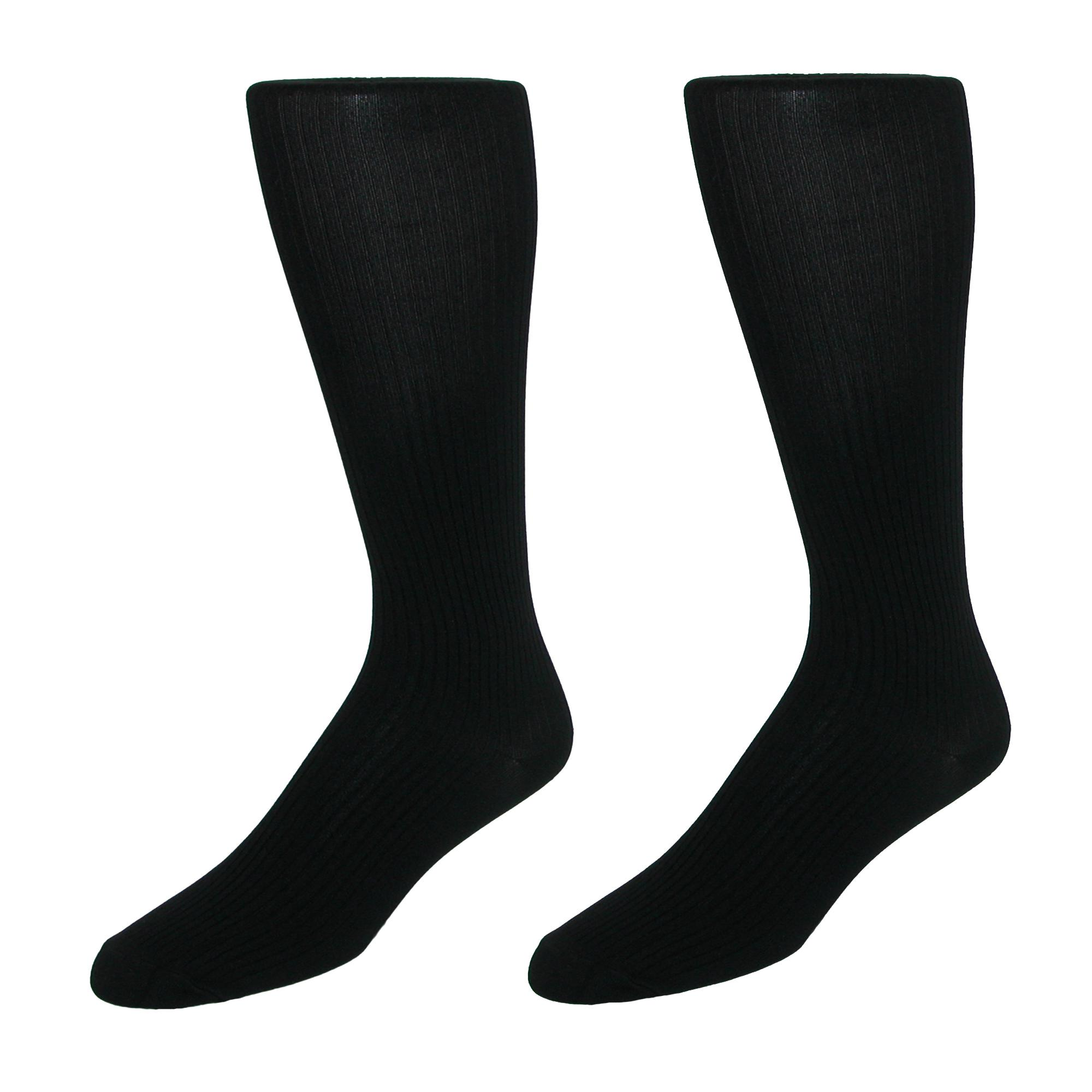 New-Jefferies-Socks-Men-039-s-Microfiber-Over-the-Calf-Dress-Socks-2-Pair-Pack miniature 3