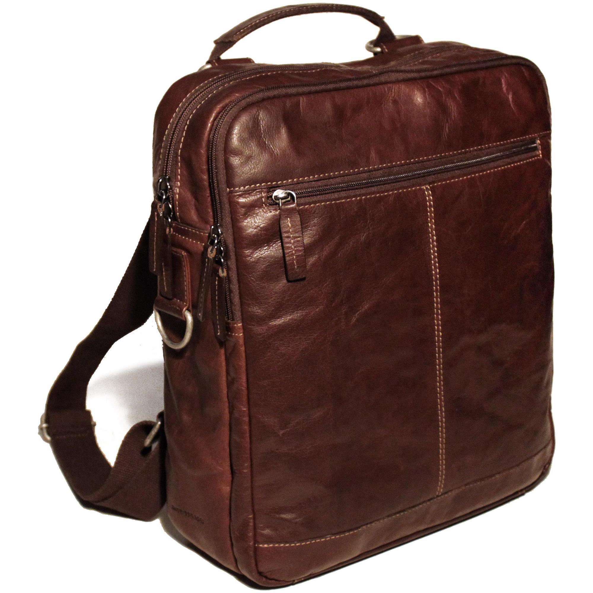 Jack Georges Voyager Leather Convertible Messenger Bag