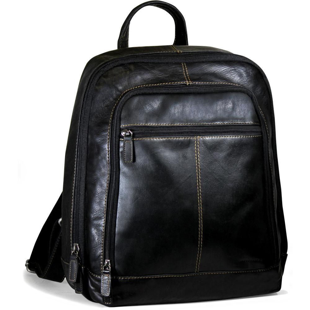 Jack Georges Men's Voyager Leather Double Zipper