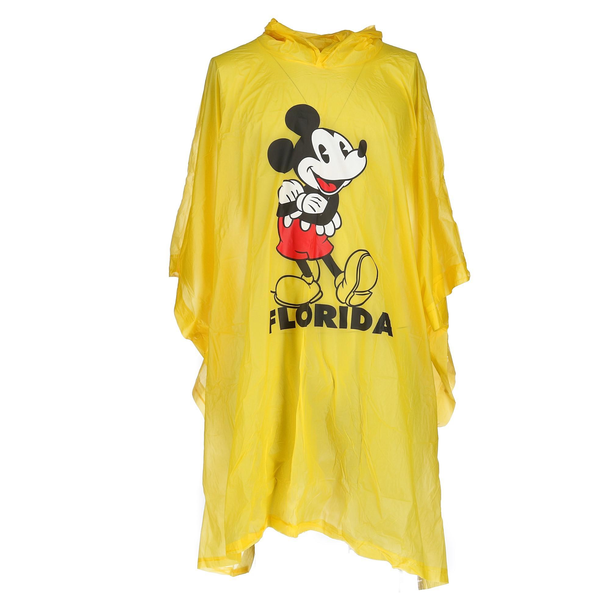 Mickey /& Pluto Rain Slicker Poncho Boy One Size Red NIP