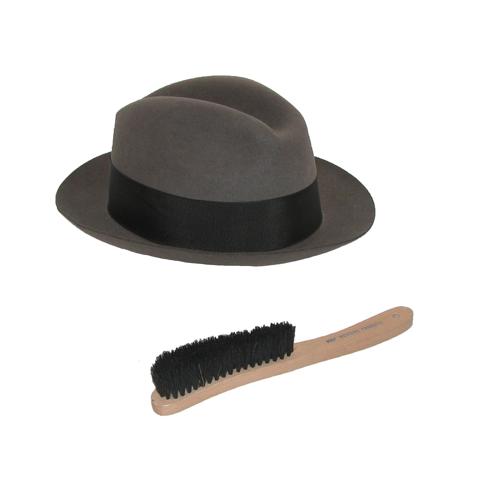 3bff16a6927 New M F Western Products Wooden Handle Wool Hat Brush 701340000957 ...