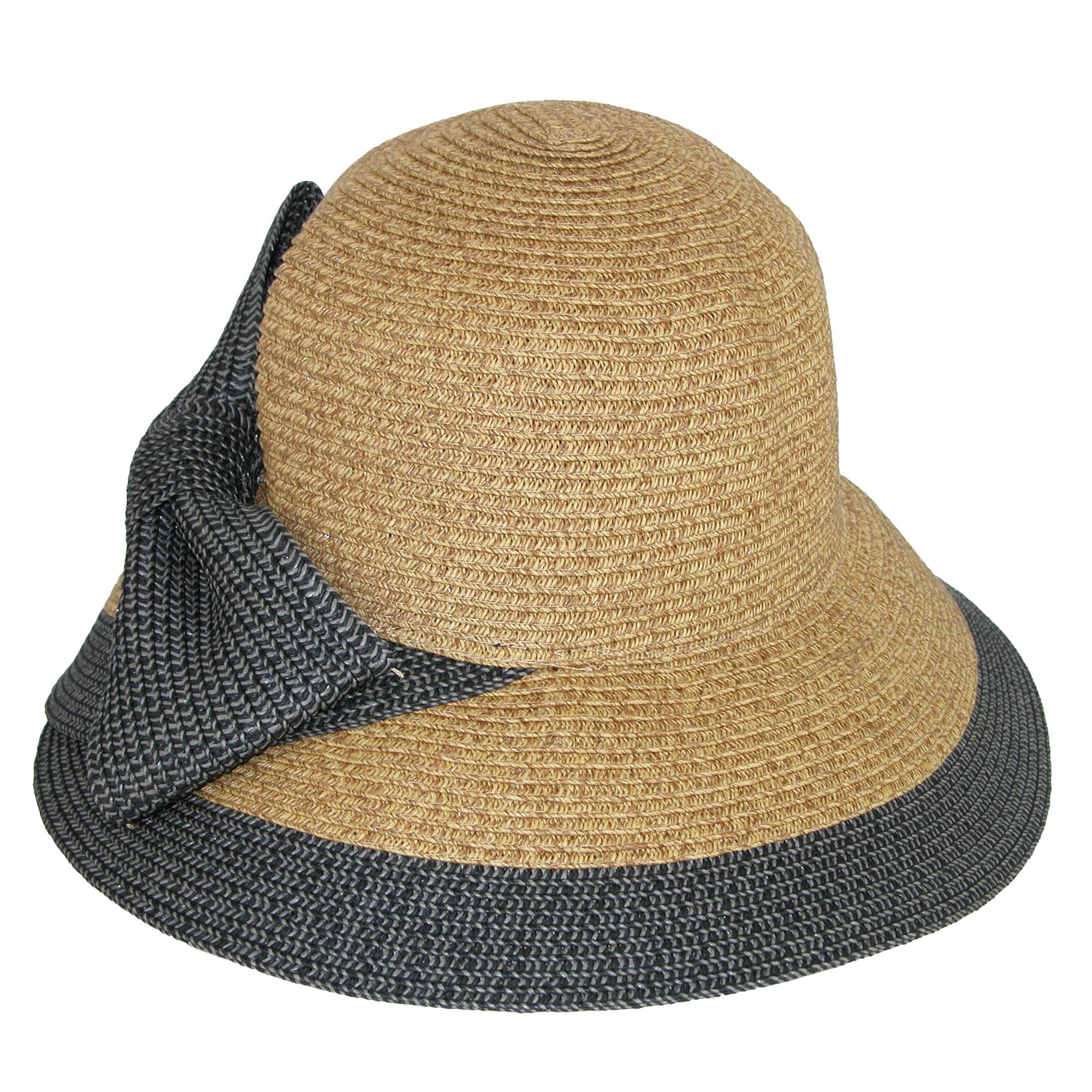 9f292ad87 Details about New Jeanne Simmons Women's Overlapping Split Brim Bucket Hat  with Bow at Back