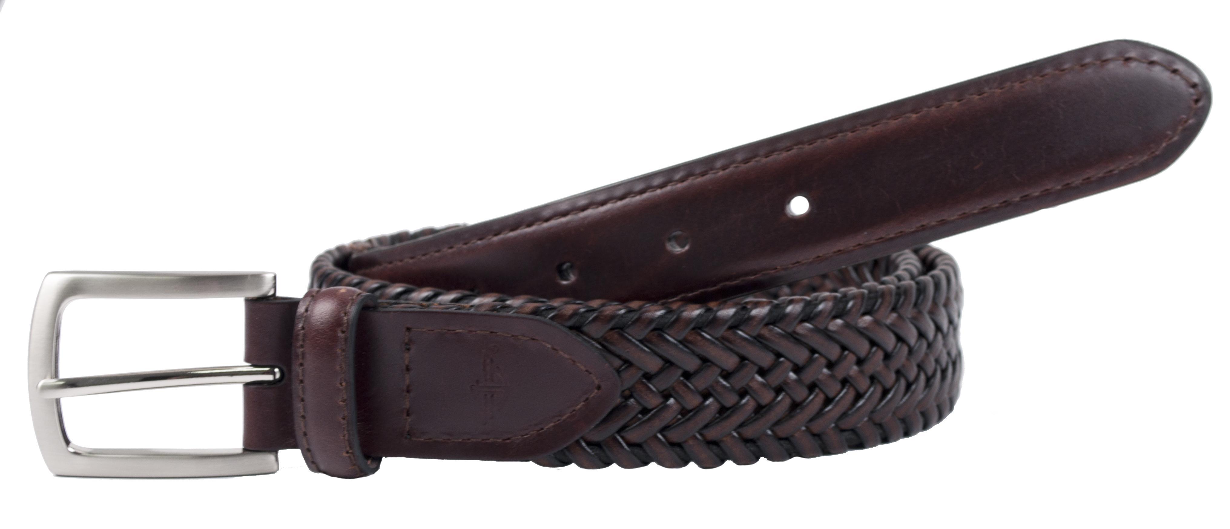 Dockers Men's Leather Tubular Stretch 1 1/4 Inch Belt