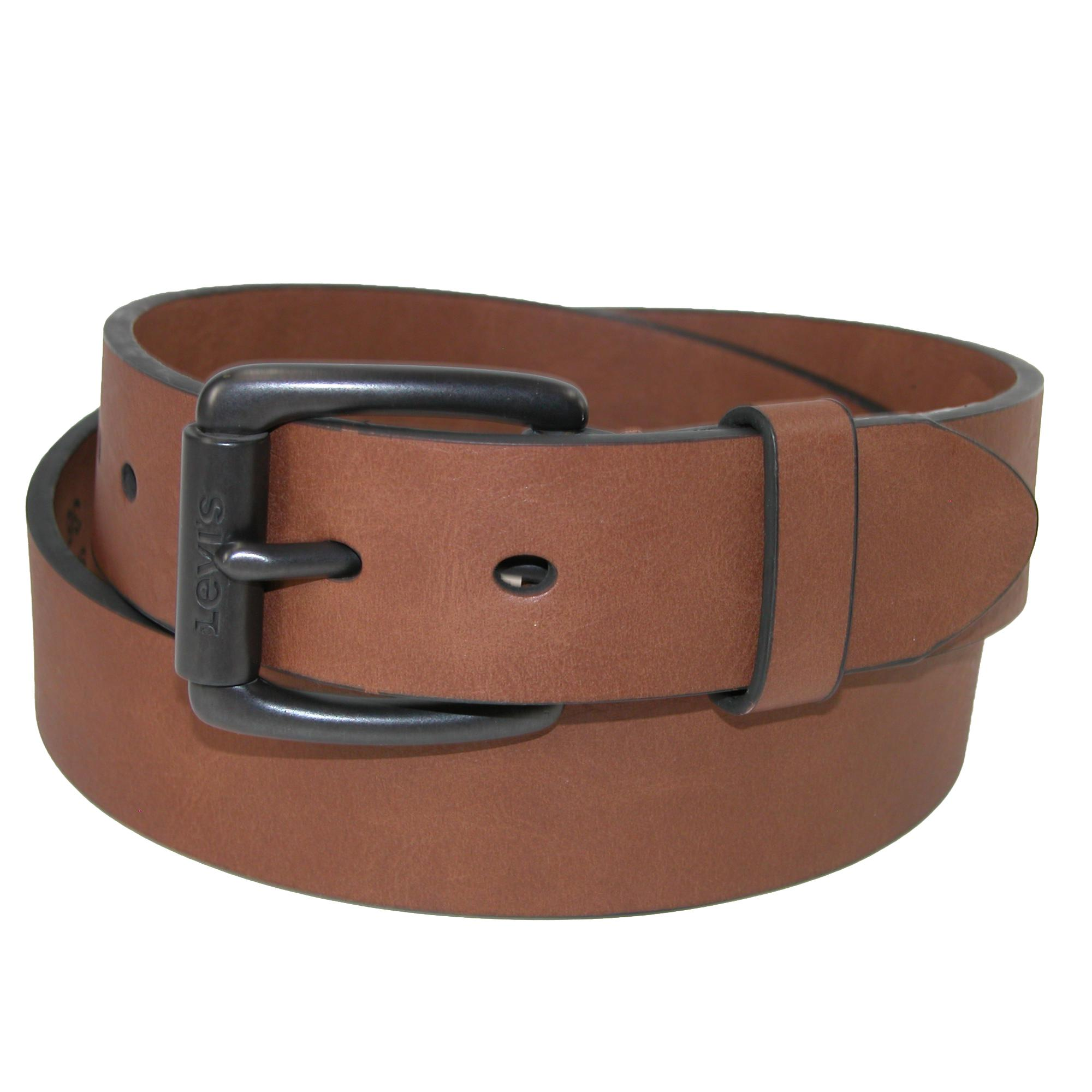 Levis Mens Cut Edge Bridle Belt With Roller Buckle