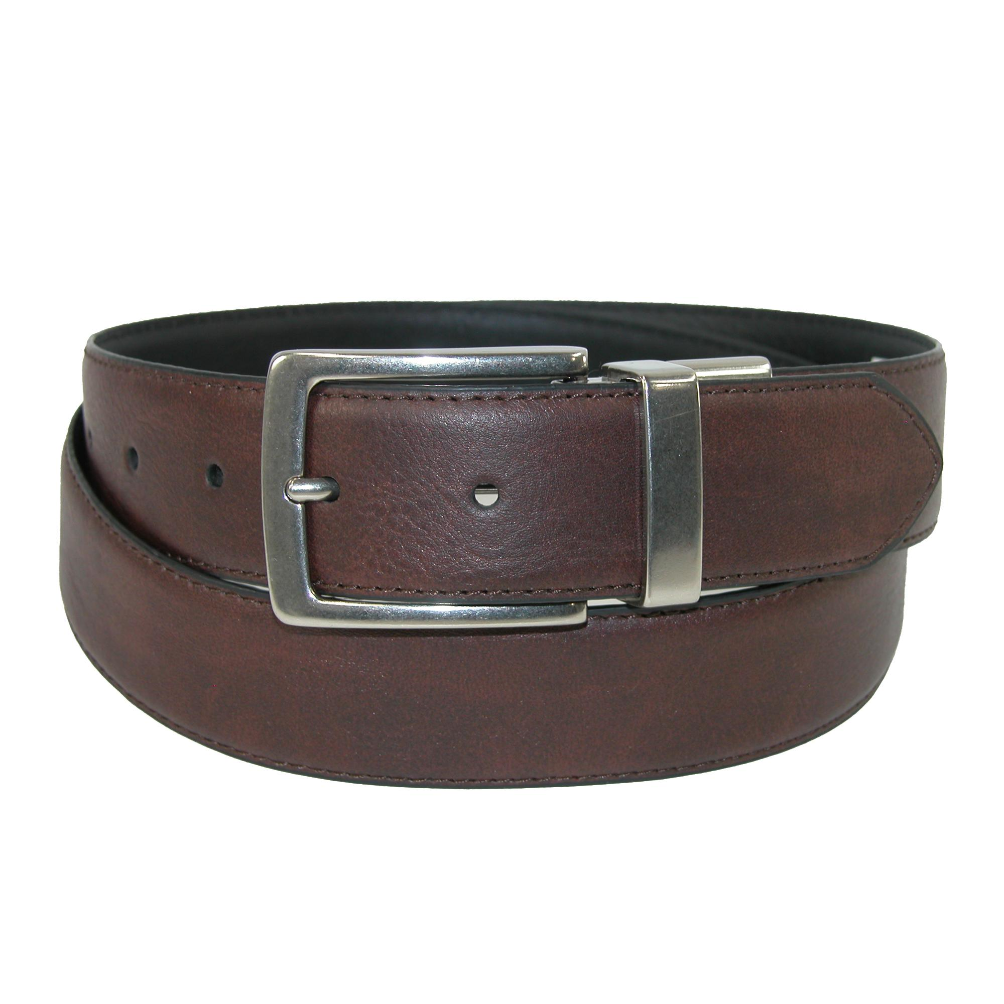 Levis Mens Leather Reversible Belt With Feathered Edge