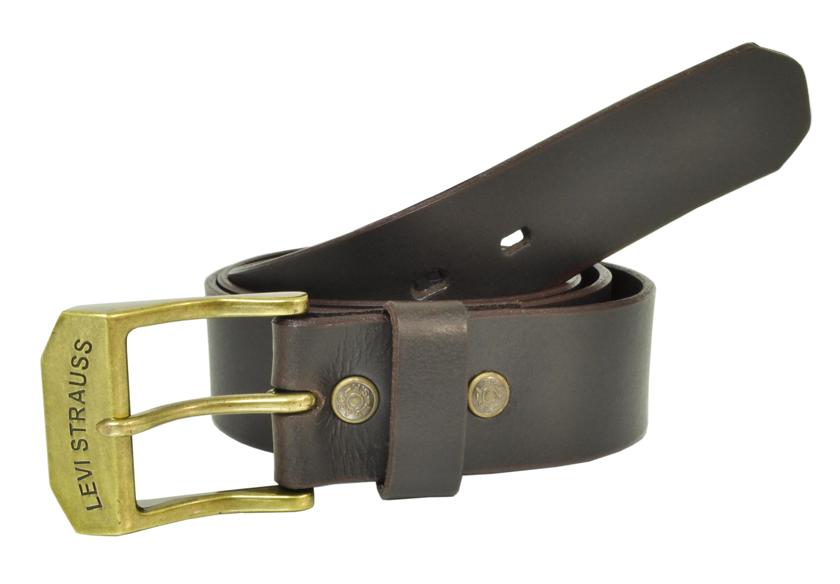 Levis Men's Big & Tall Leather Beveled Edge 1 1/2 Inch Bridle Belt