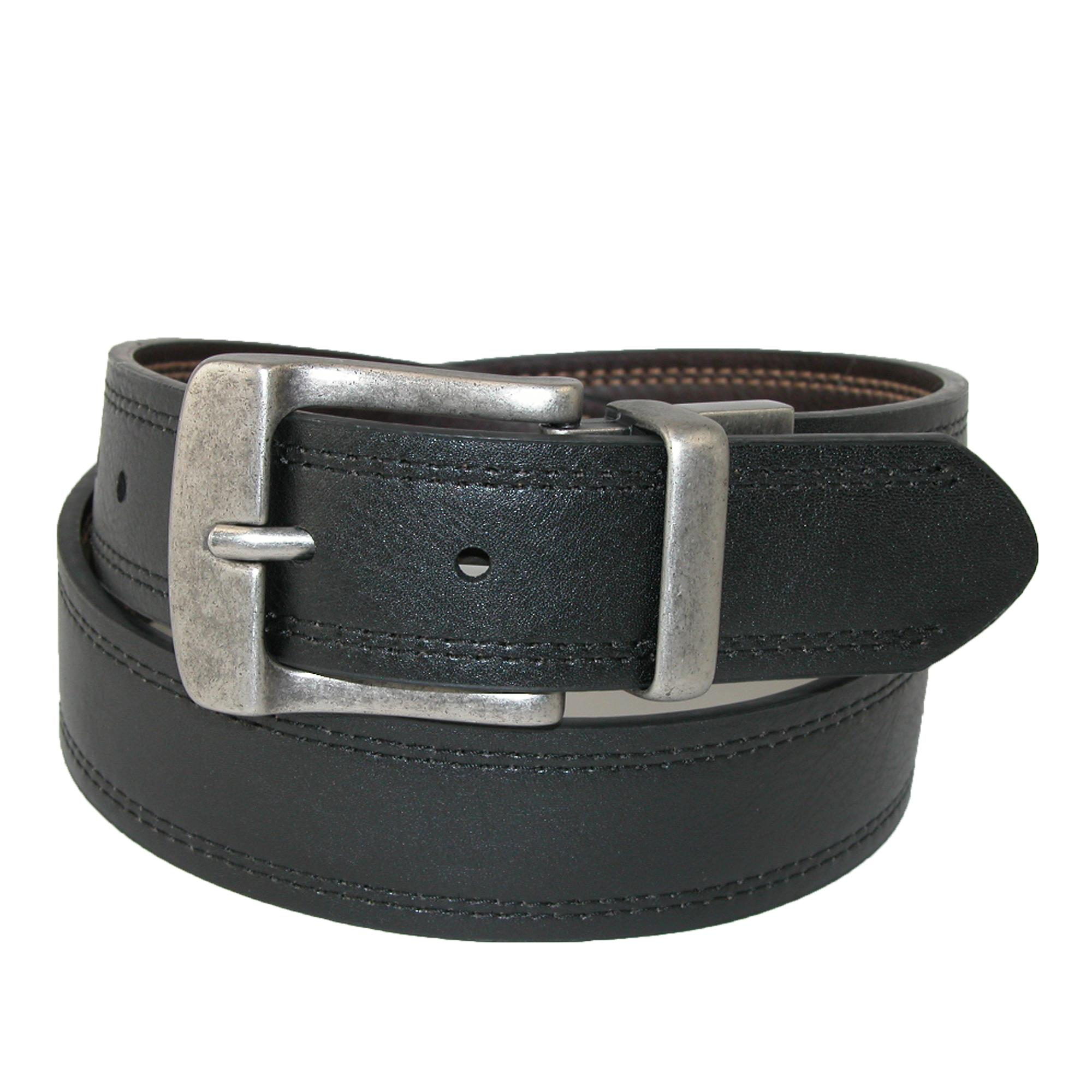 Levis Men's Big & Tall Leather Reversible Belt With Double Row Stitch