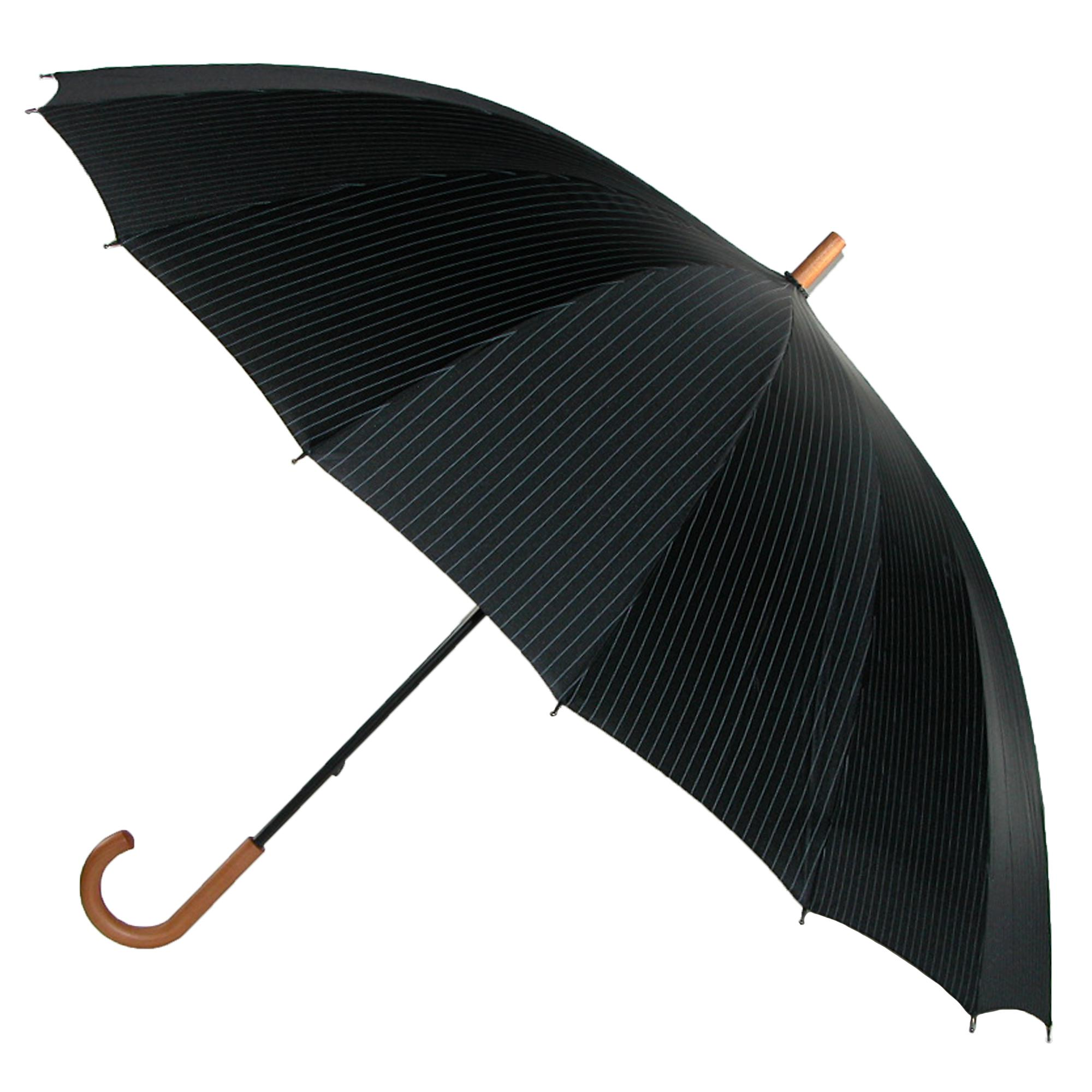 Leighton_60_Inch_Wood_Handle_Pin_Stripe_Print_Doorman_Umbrella_