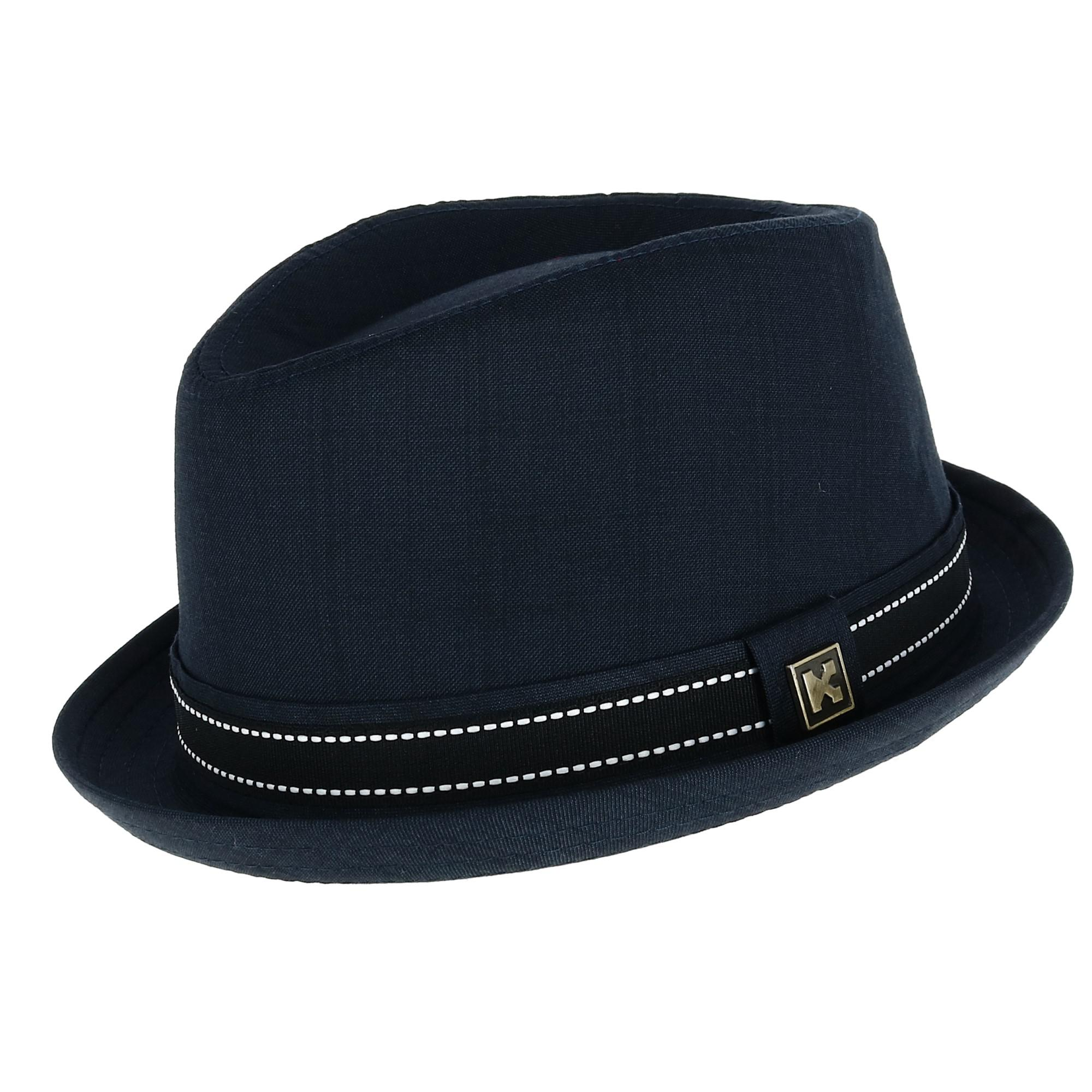 Kenny K Mens Two Tone Fedora with Pleated Band