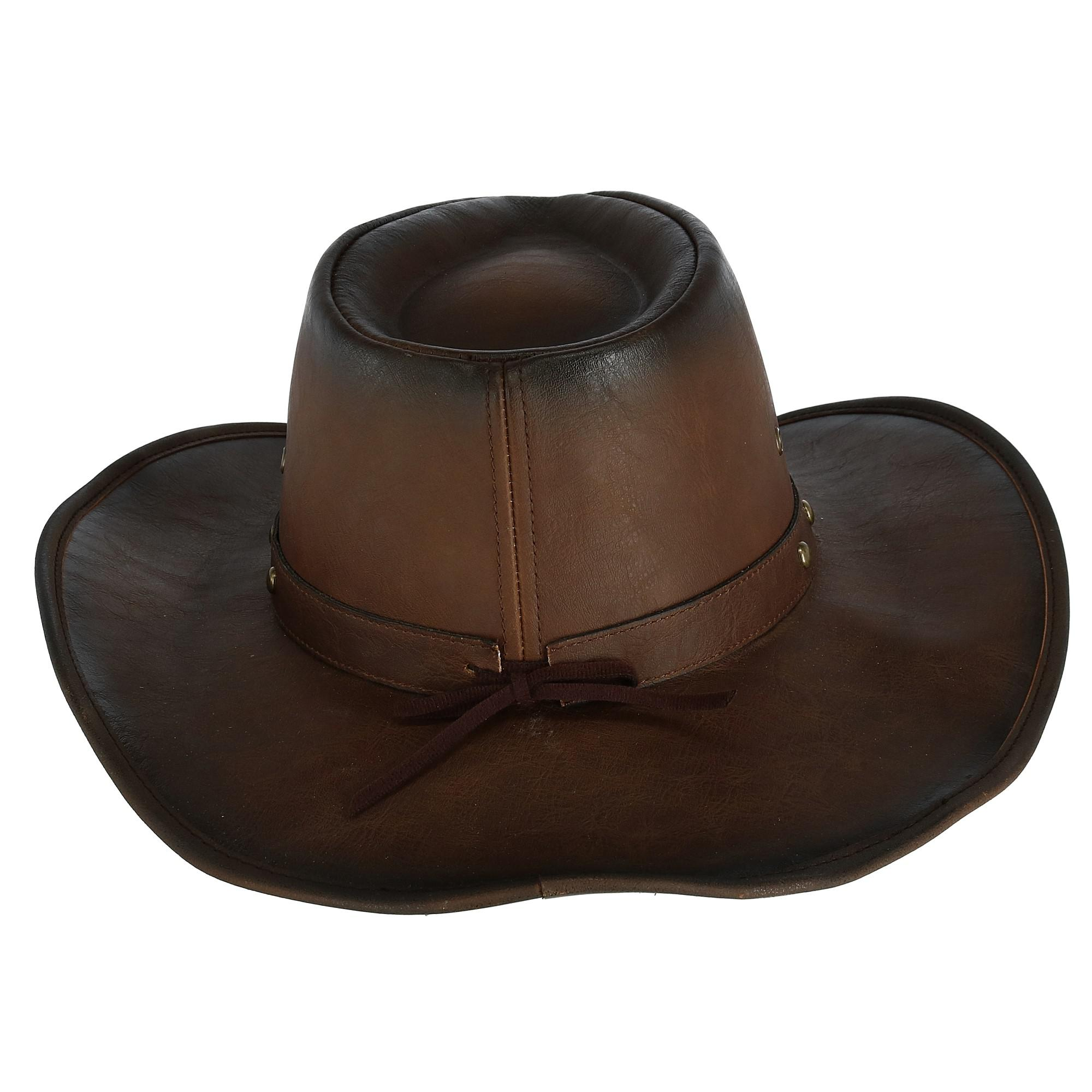 f6f8680c000 Details about New Kenny K Men s Distressed Western Hat with Brass Studs and Burnished  Edges