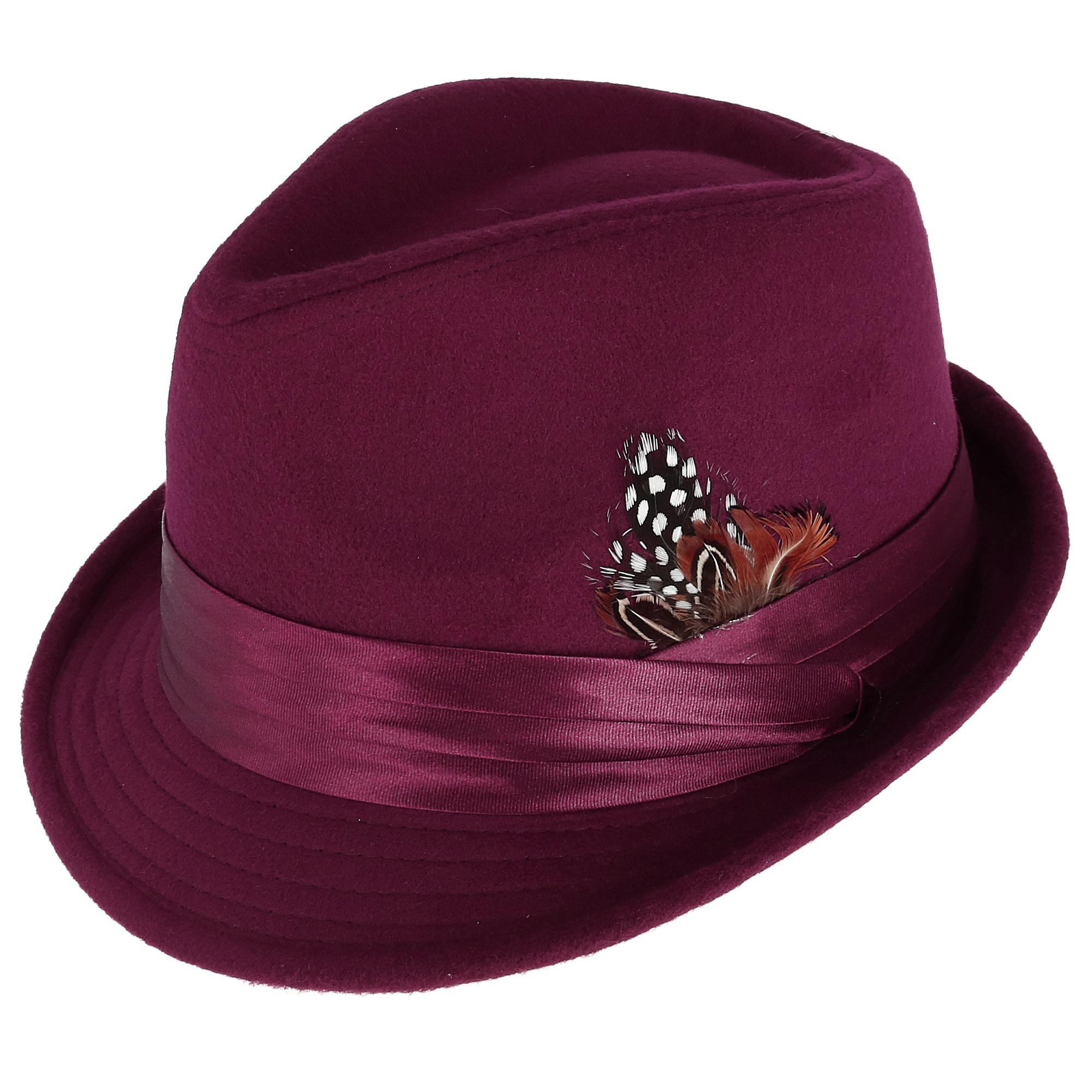 5beb198fb Details about New Kenny K Men's Dressy Faux Felt Fedora with Removable  Feather