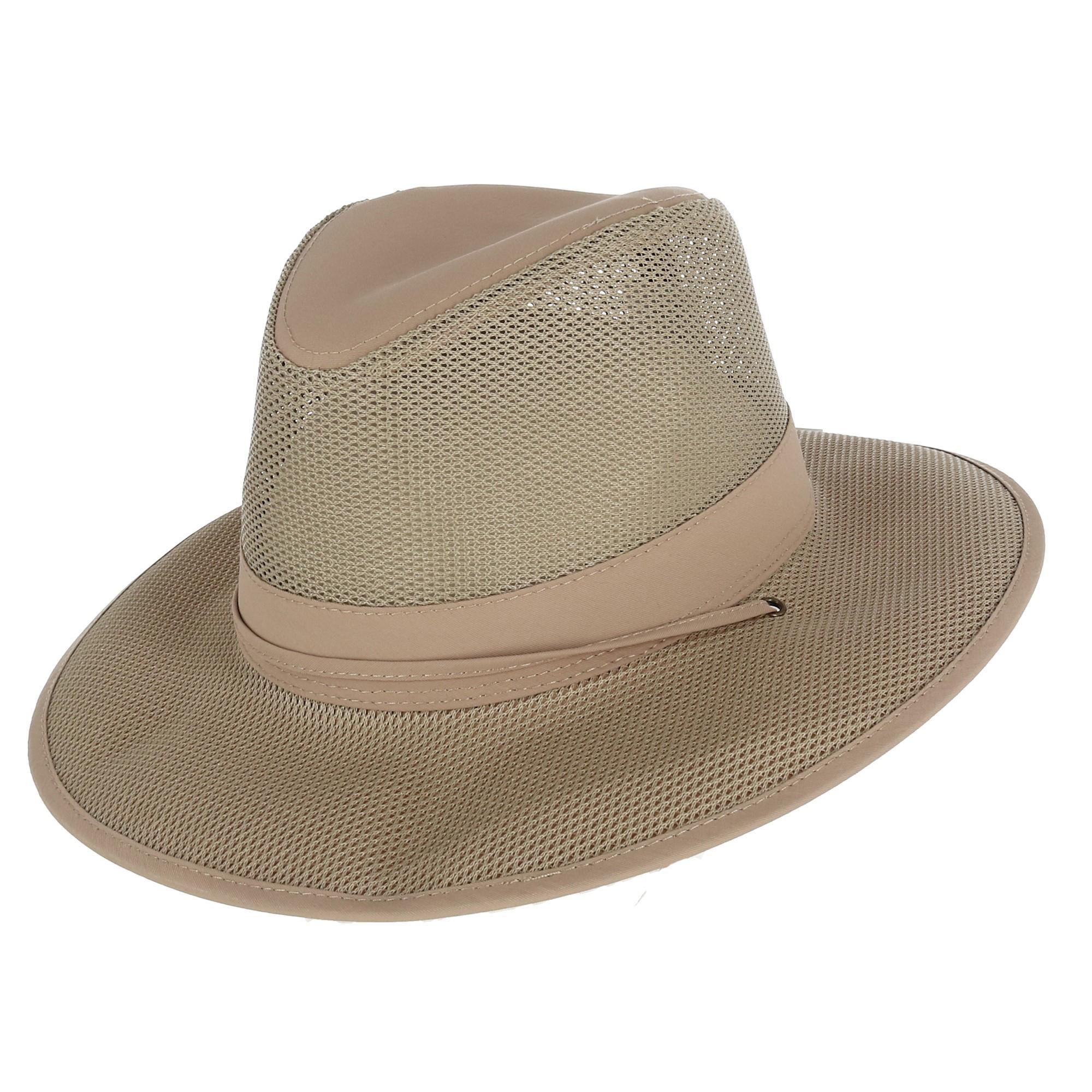 c592c5577a4f3f New Kenny K Men's Lightweight Mesh Safari Hat with Chin Cord   eBay