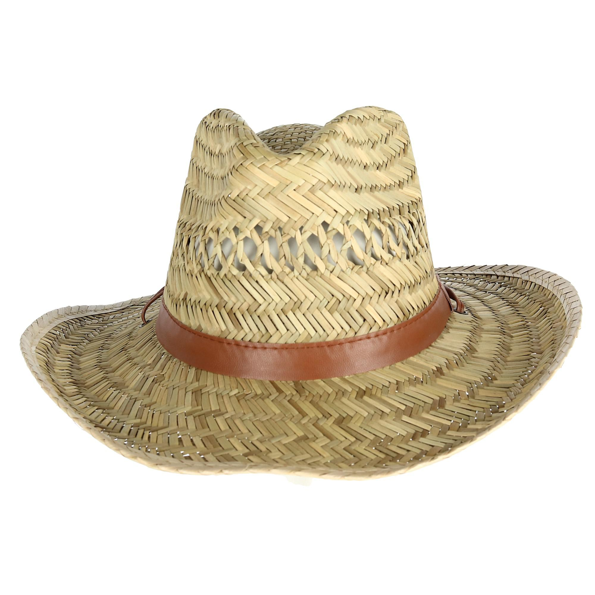 3754d083be6 Details about New Kenny K Men s Rush Straw Lightweight Safari Hat with Chin  Cord