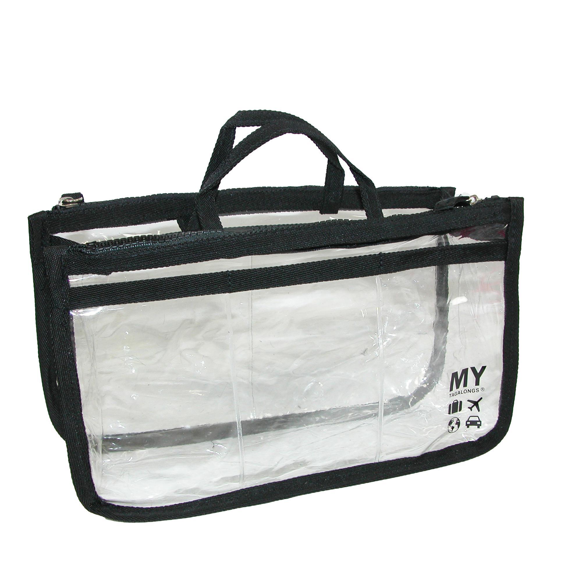 My Tagalongs Womens Clear Multi Pocket  Handbag Organizer