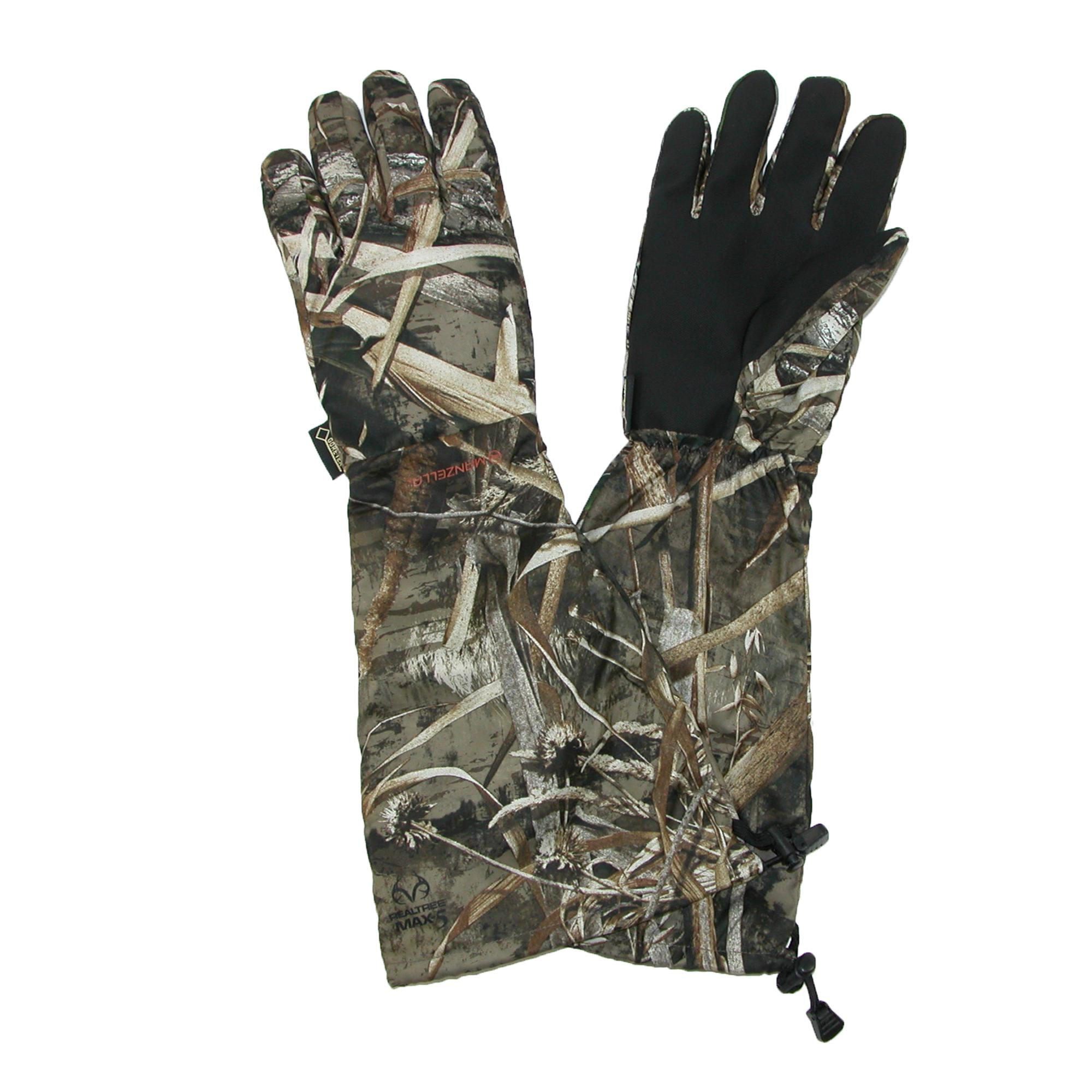 Manzella Mens Gore-tex Realtree Max 5 Hunting Gloves With Extended Cuff