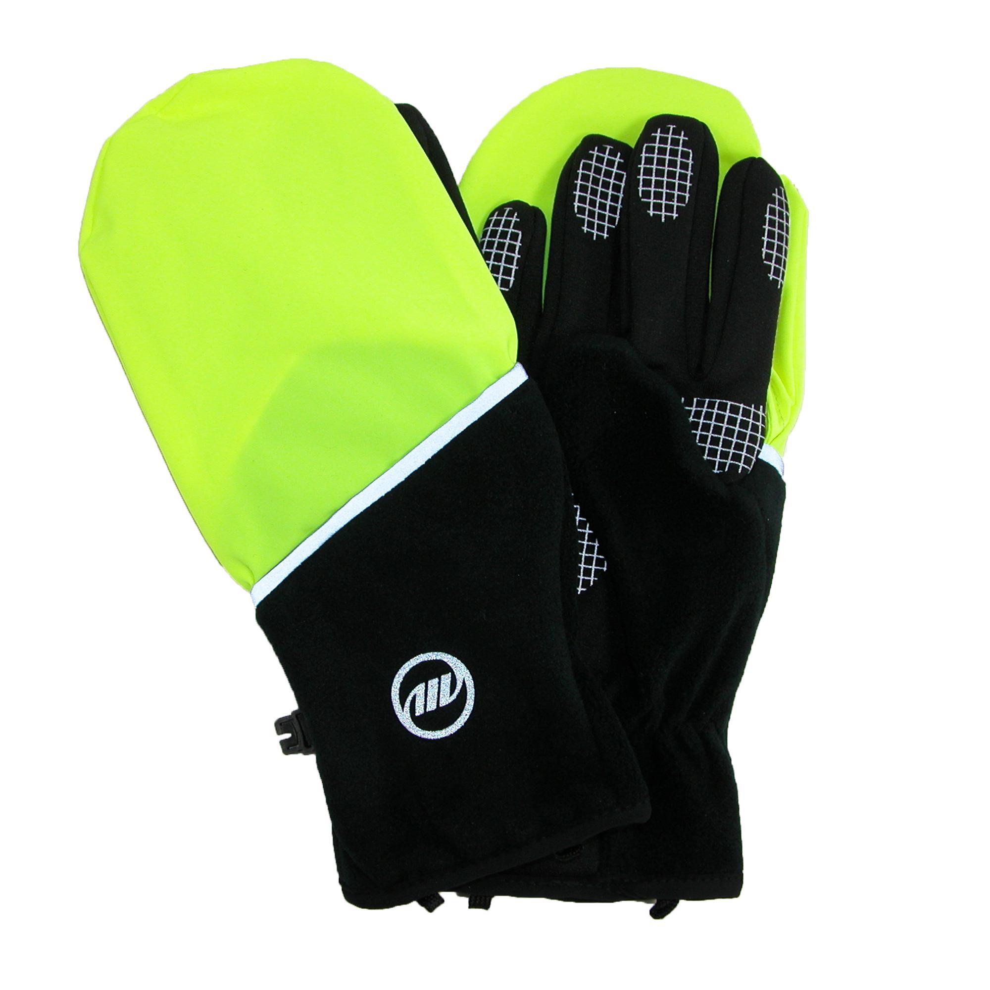 Manzella Mens Hatchback Convertible Wind Resistant Running Glove