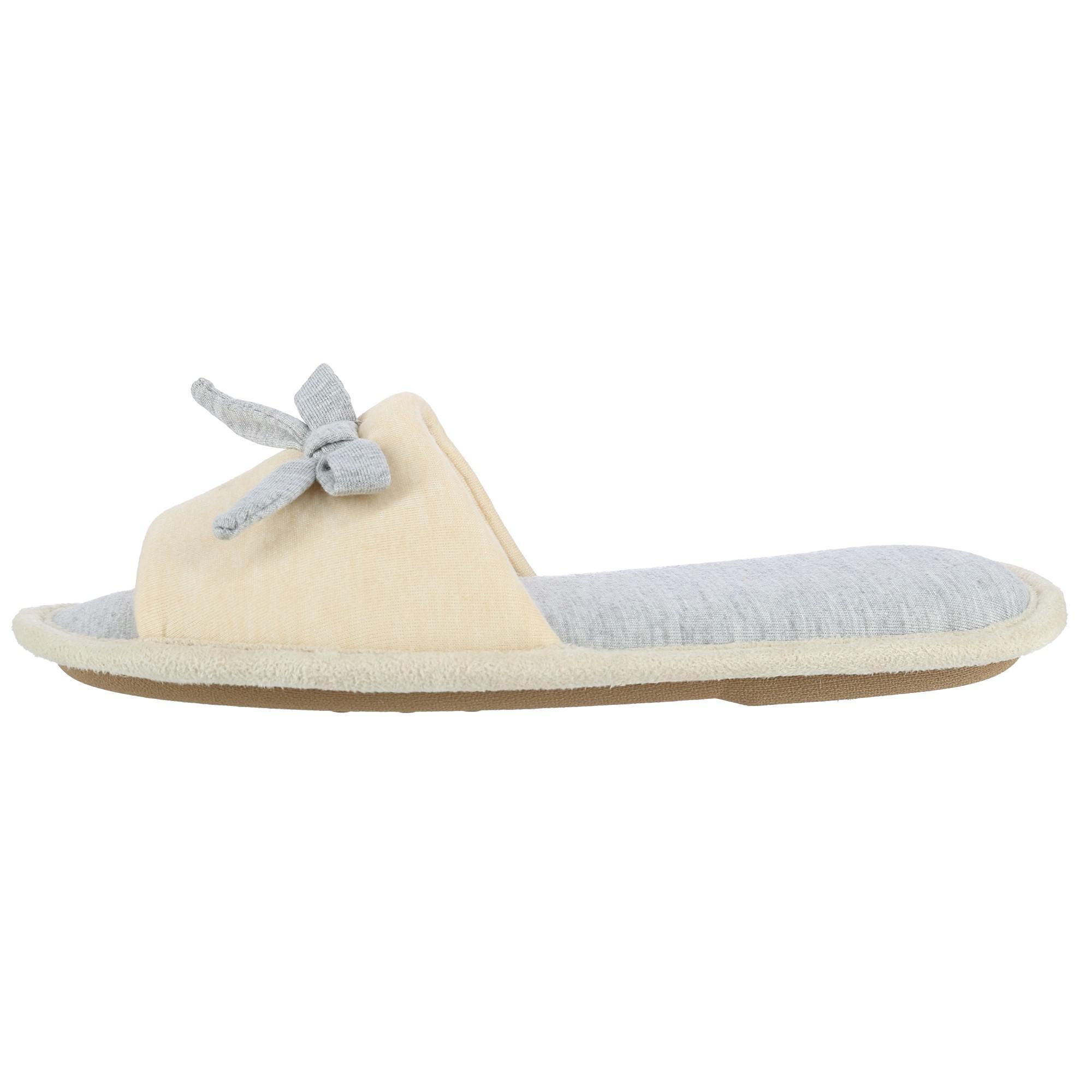 New Hanes Women S Heather Jersey Open Toe Slide Slipper