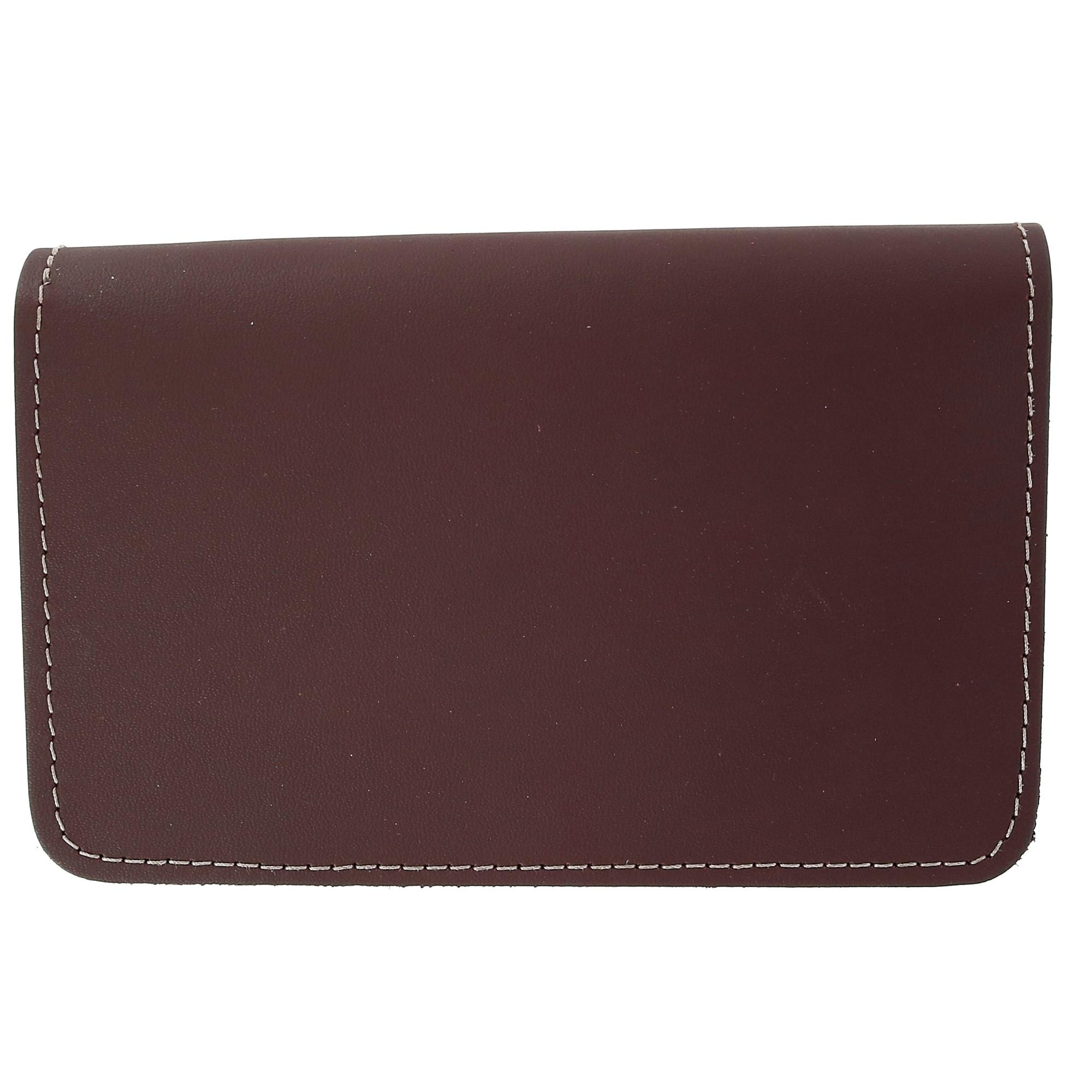 CTM_Leather_Top_Stub_Checkbook_Cover_-_Burgundy_one_size