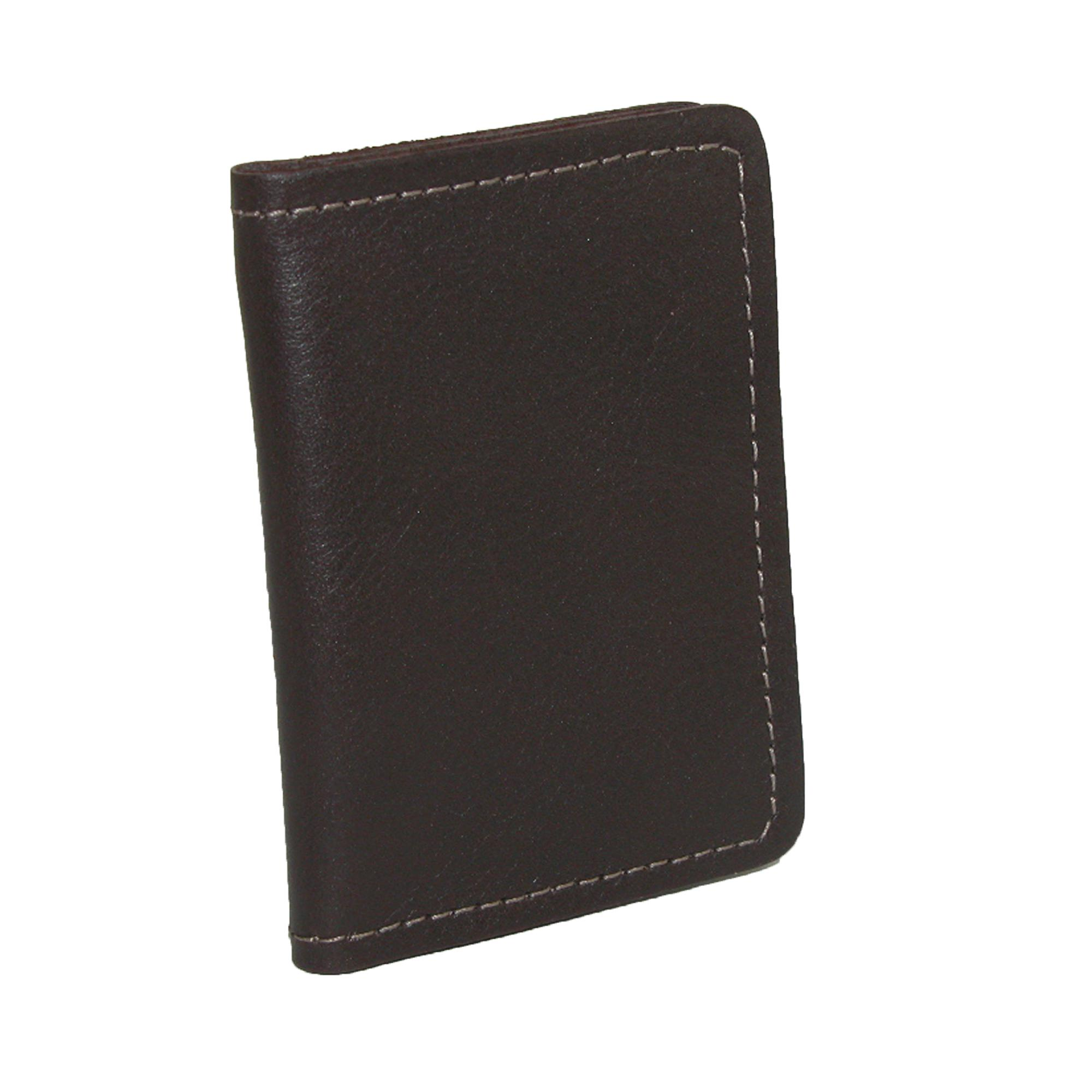 CTM_Mens_Leather_Money_Clip_BiFold_Front_Pocket_Wallet_