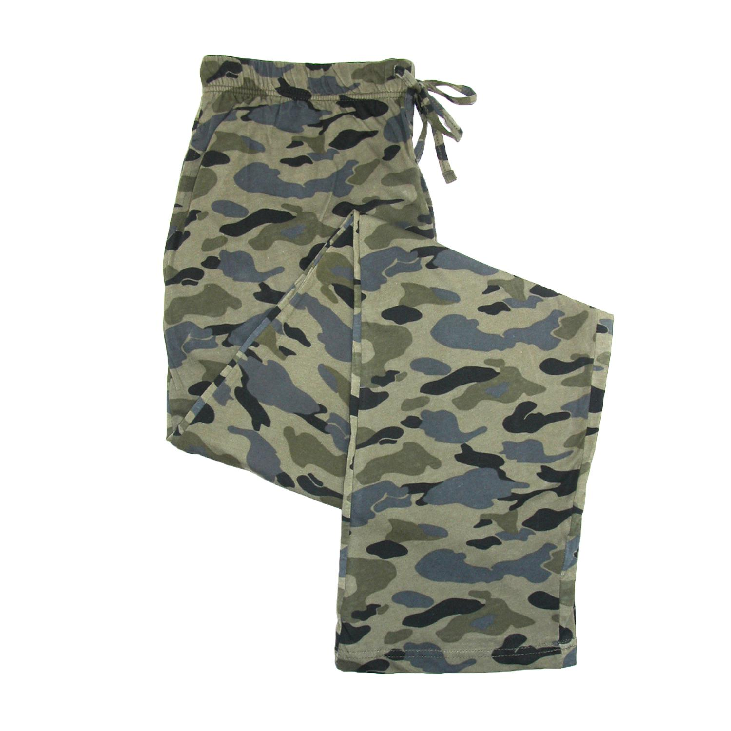 New Hanes Men S Cotton Camo Print Pajama Pants