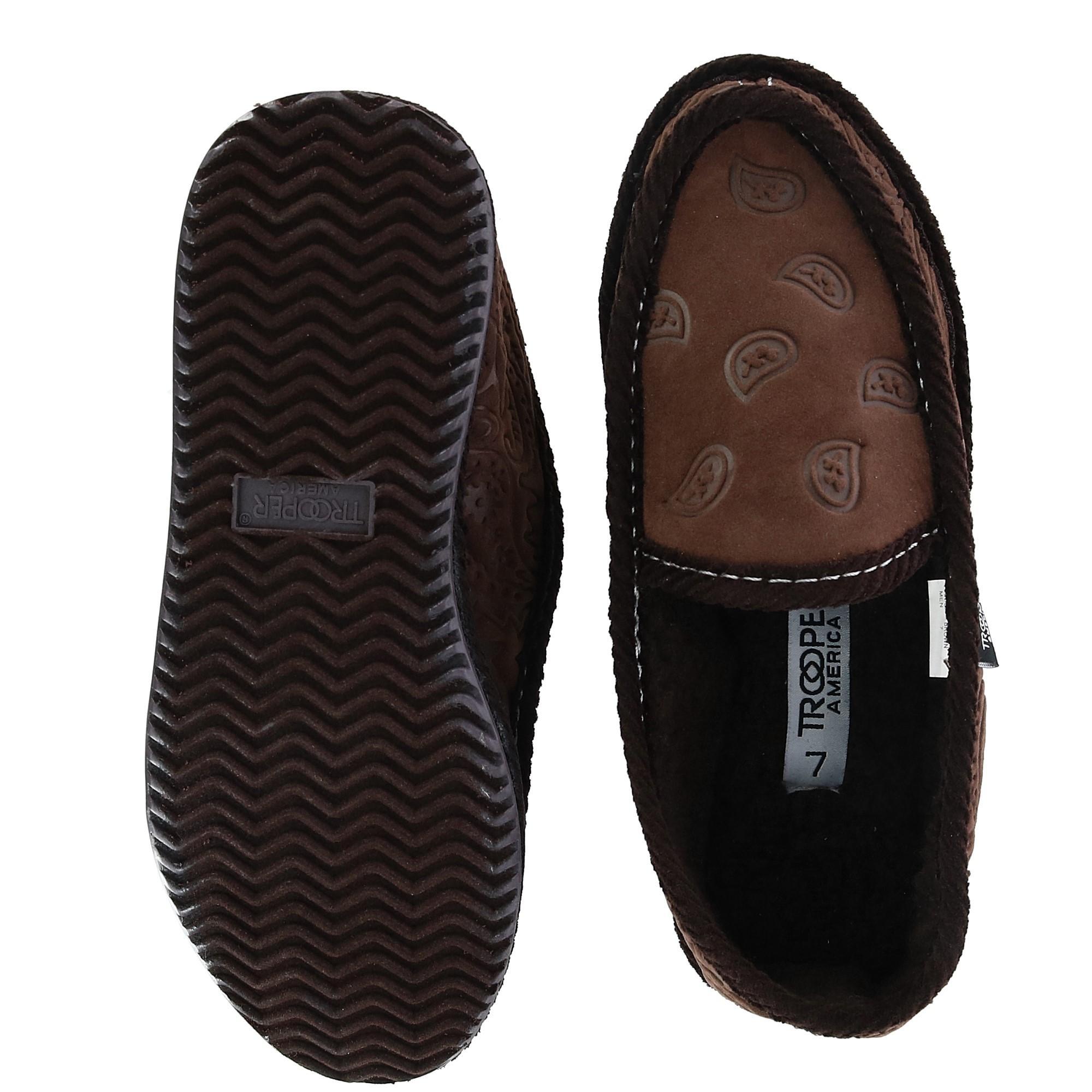 a0ea9e036 New Trooper America Men's Monotone Paisley Bandana Print House Shoe ...