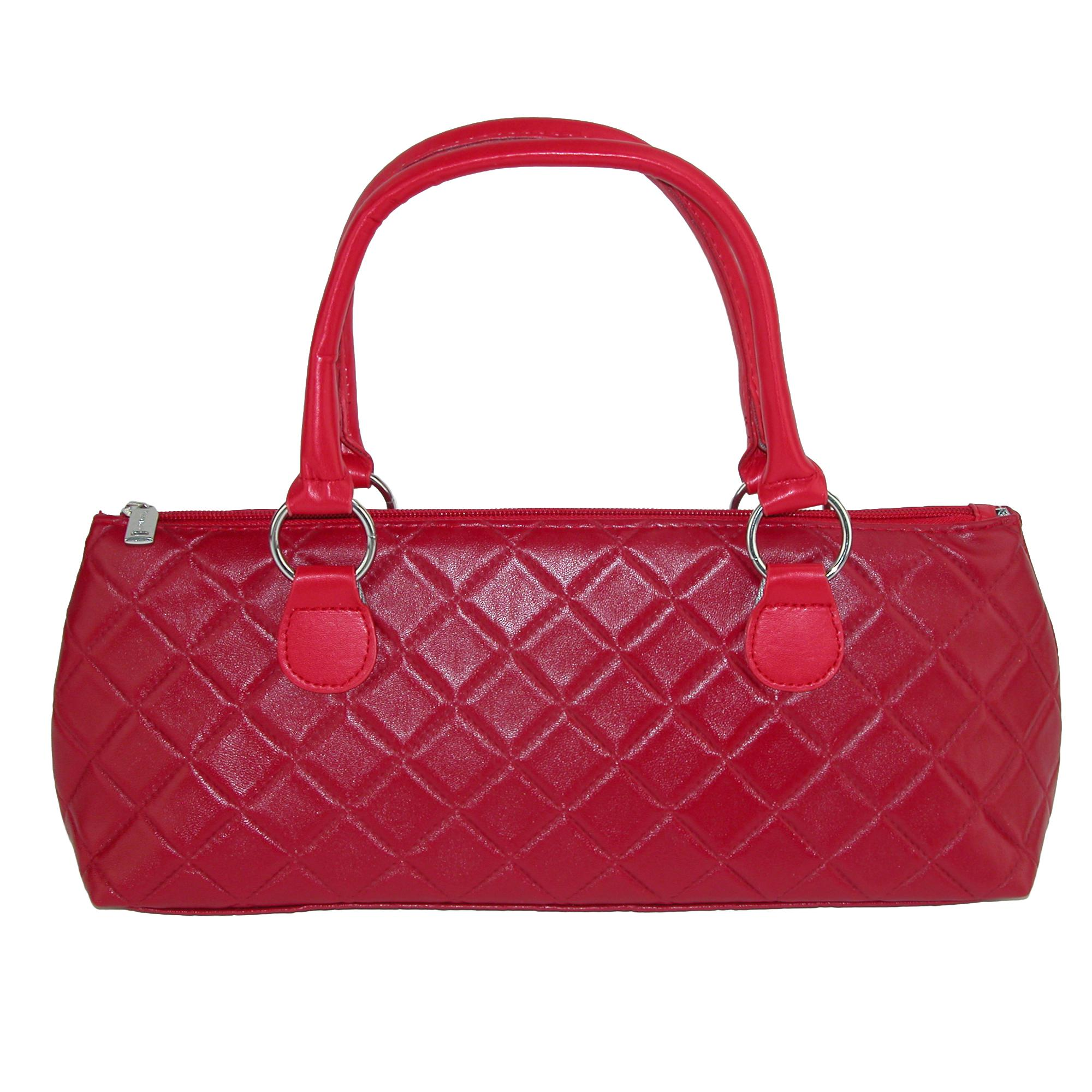 Primeware Quilted Wine Bottle Clutch Lunch Bag Purse - (PW-3020) photo