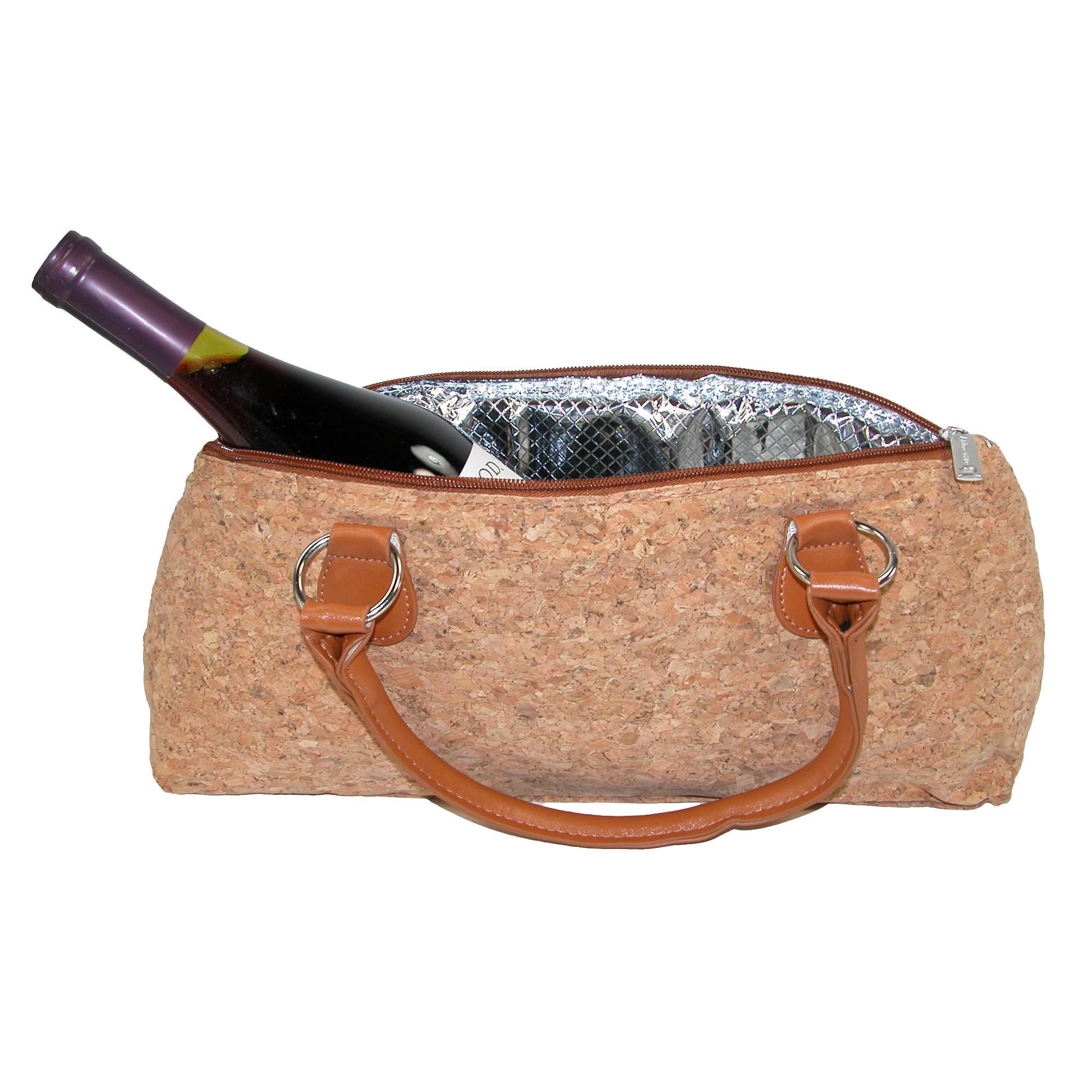 Primeware Insulated Cork Finish Wine Bottle Clutch
