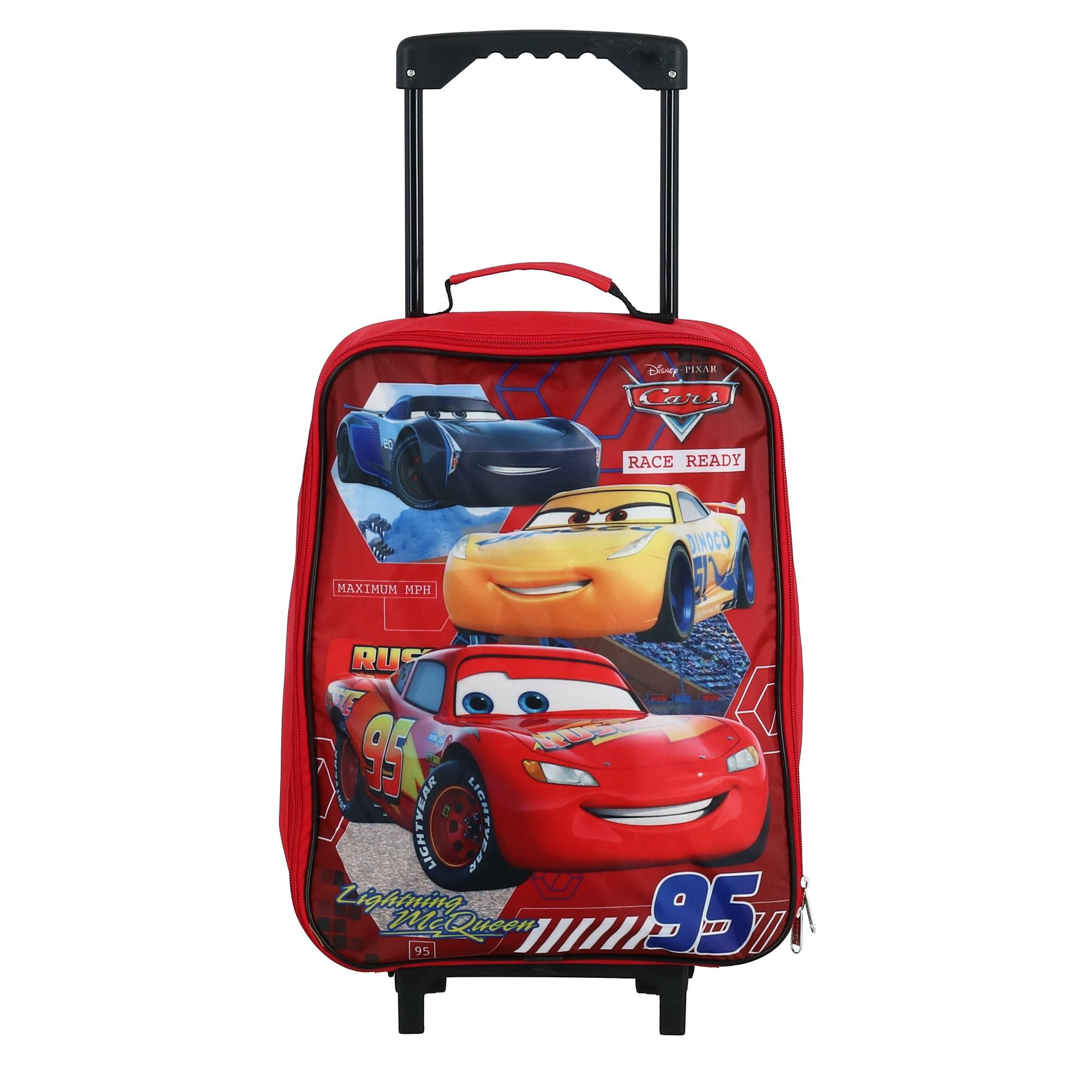 eec6e51f6a6f Details about New Disney Kids' Lightning McQueen and Friends Rolling Luggage
