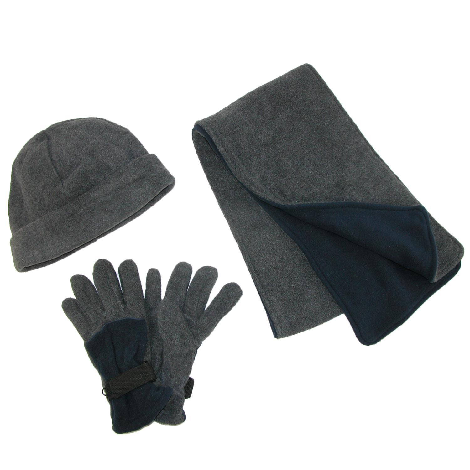 CTM_Mens_Fleece_Hat_Gloves_and_Scarf_Winter_Set_