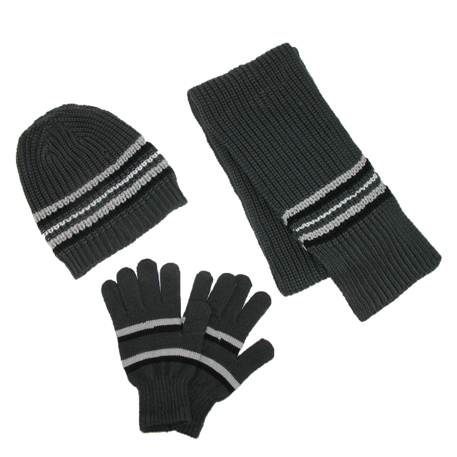 Ctm Mens Knit Hat Gloves And Scarf Winter Set