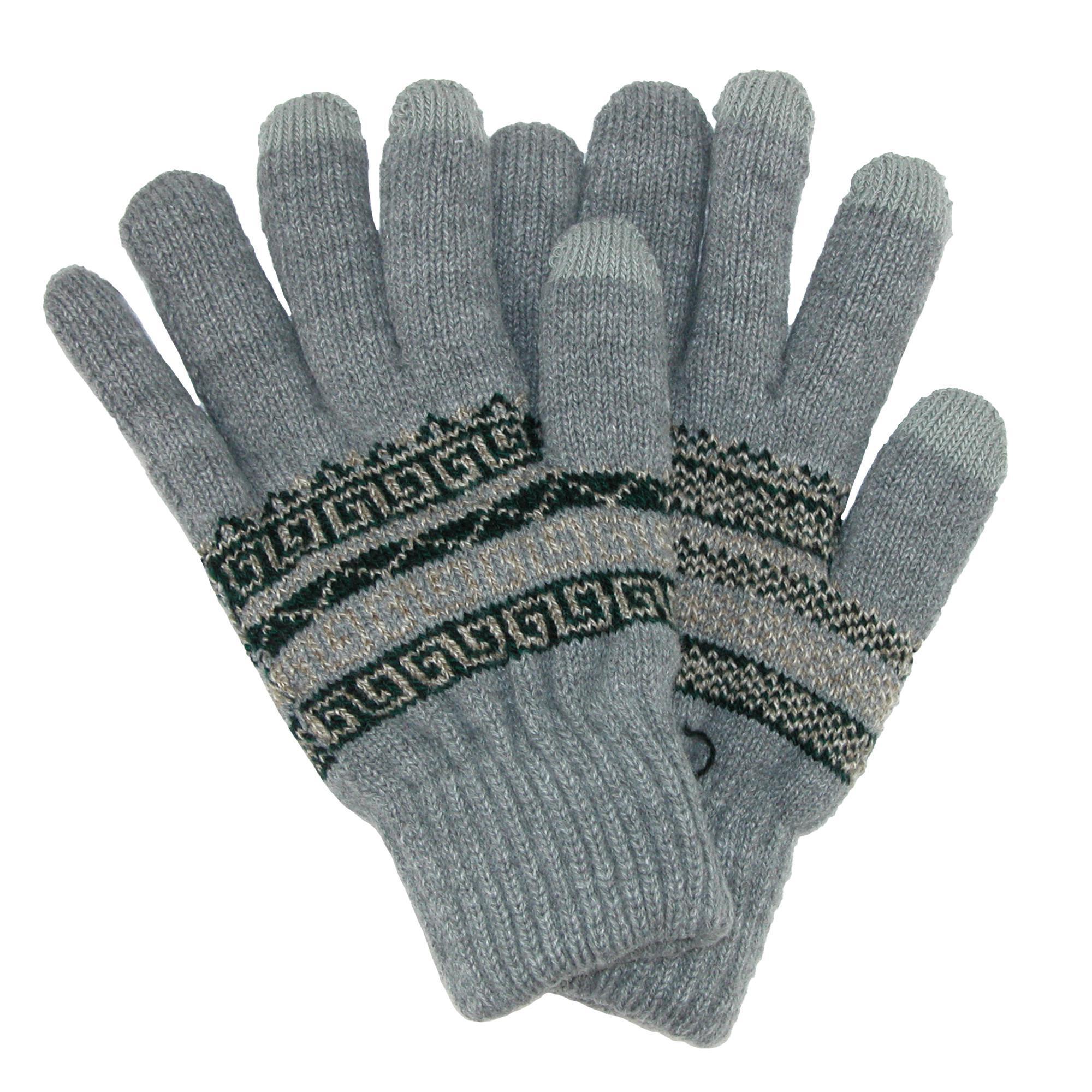 CTM Men's Fairisle Touchscreen  Gloves
