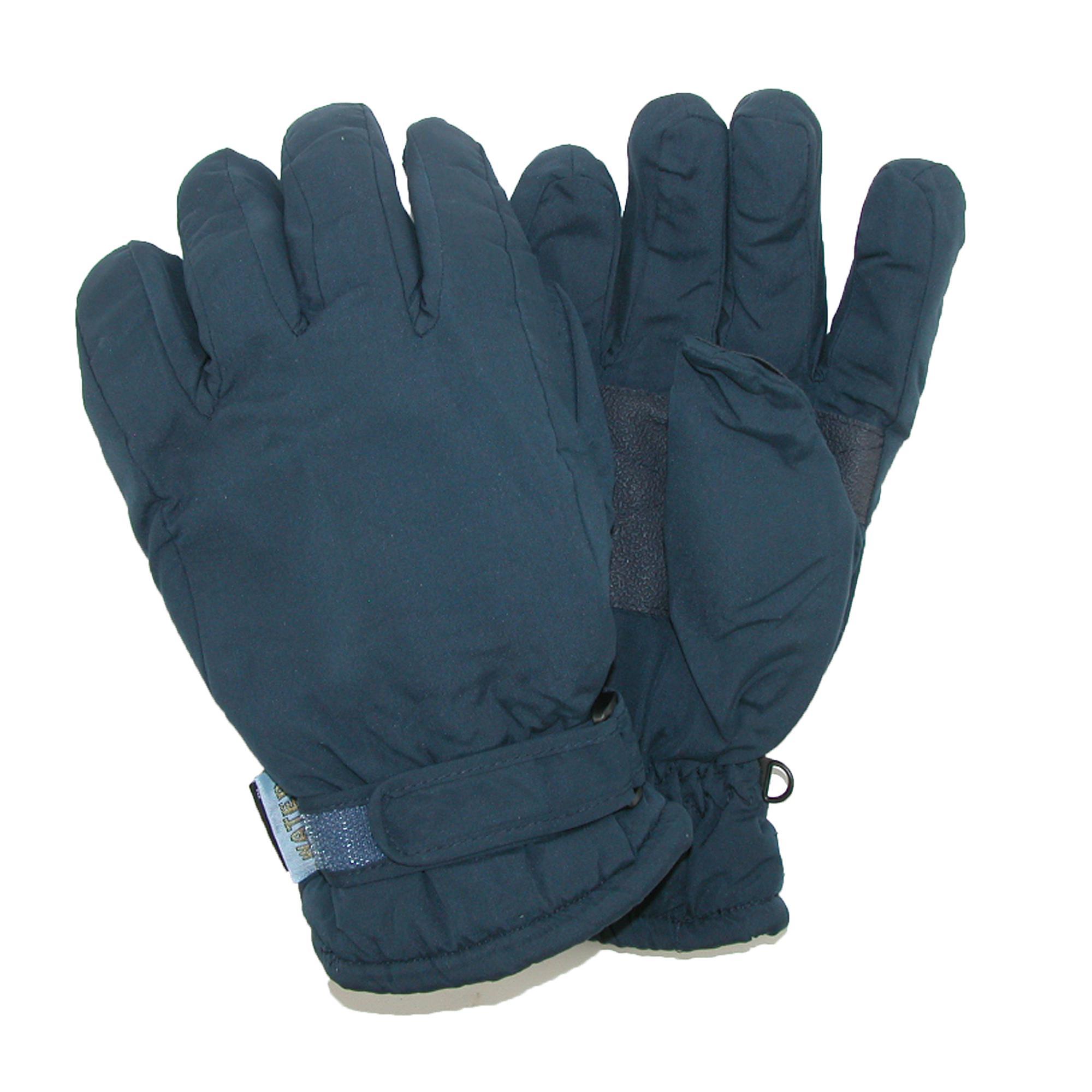 CTM Men's Waterproof Thinsulate and Fleece Lined Ski Gloves