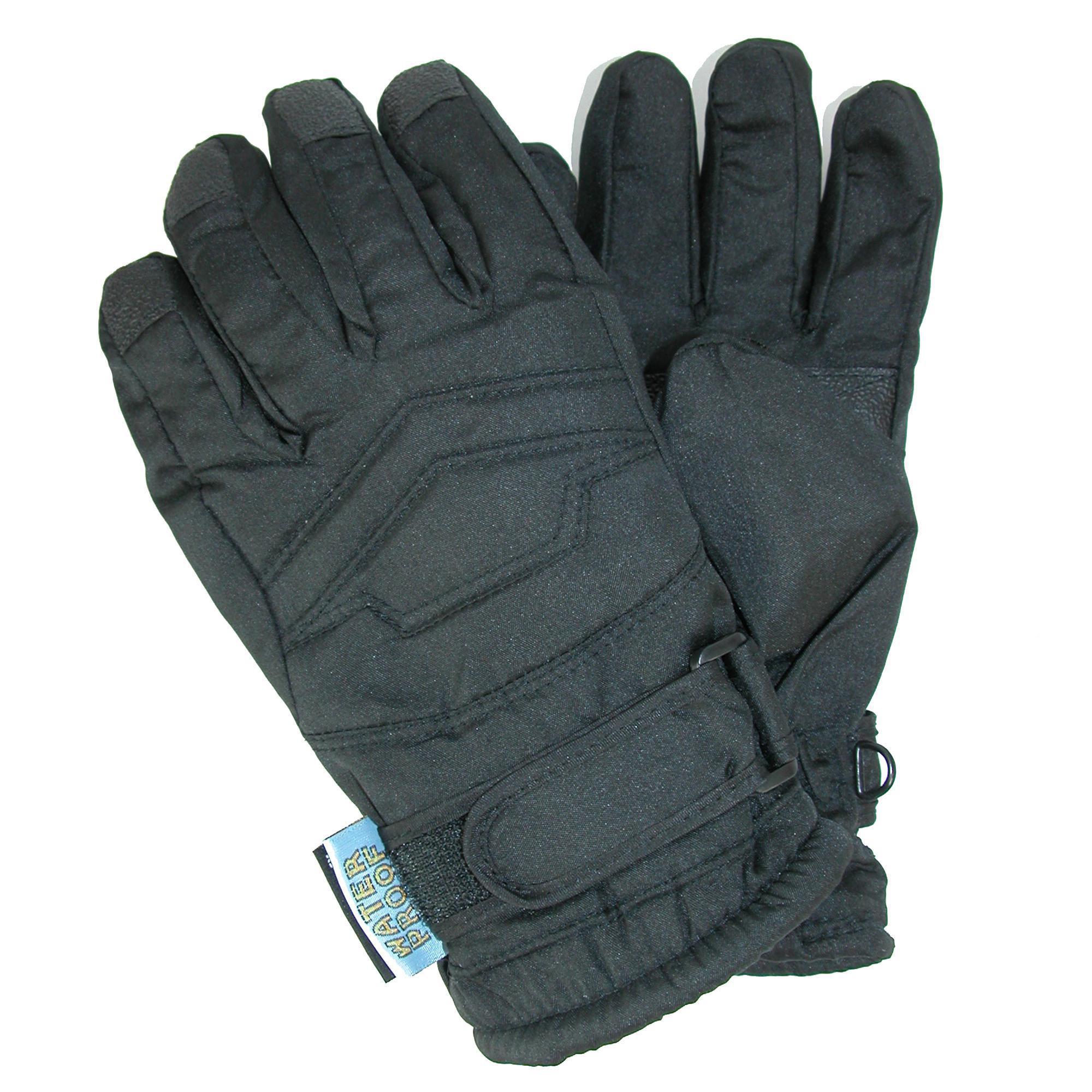 CTM Kids' Thinsulate Lined Waterproof Winter Gloves