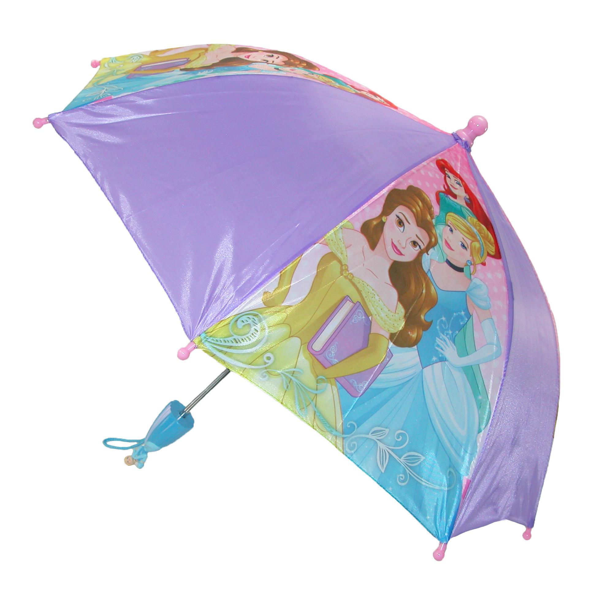 New Disney Kids Princess Stick Umbrella With Character Princess With Umbrella