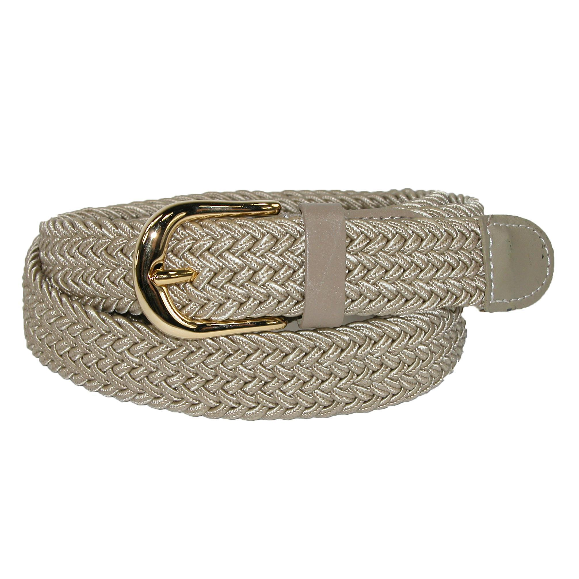 Ctm Womens Elastic Braided Stretch Belt
