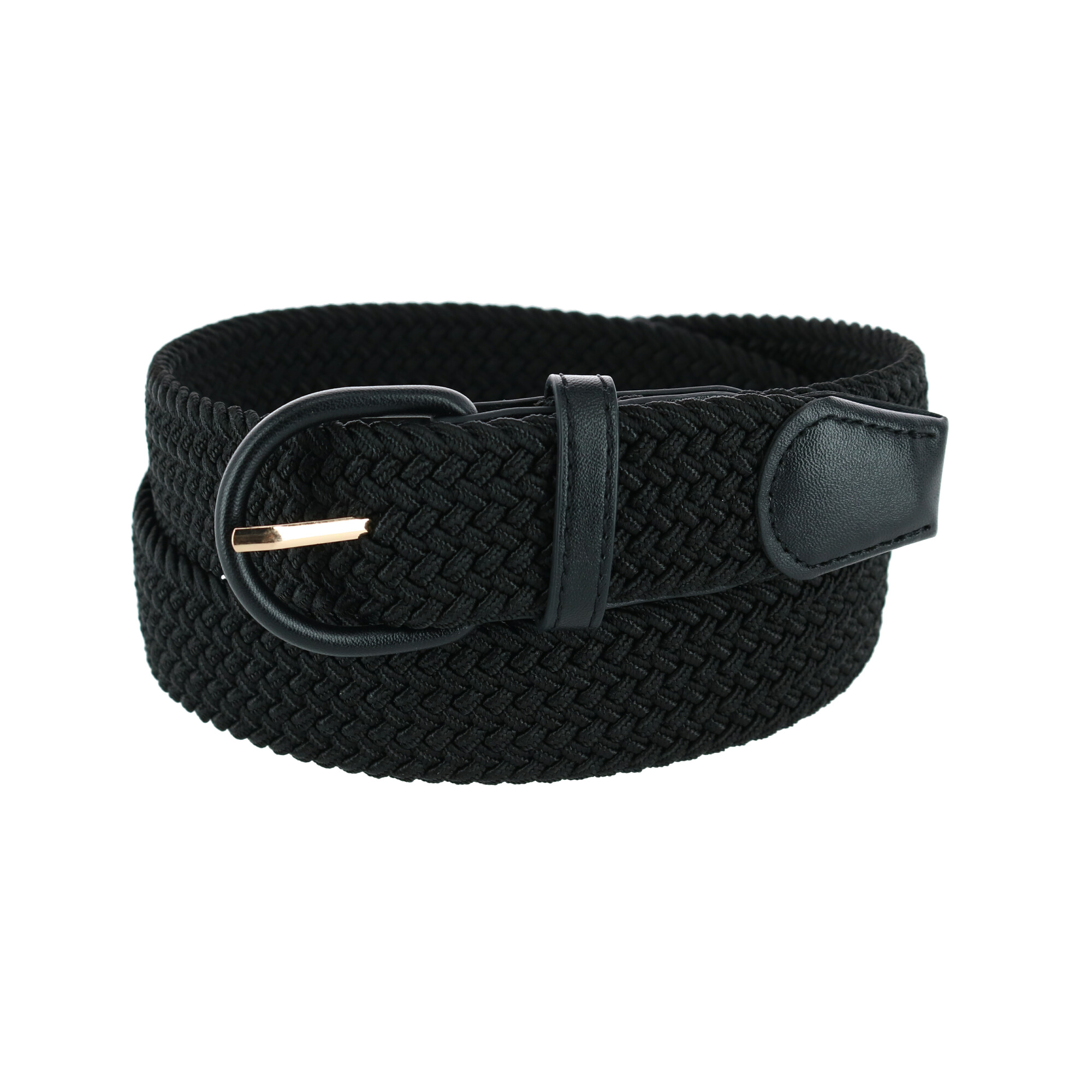 New CTM Men/'s Elastic Braided Belt with Covered Buckle Big /& Tall Available