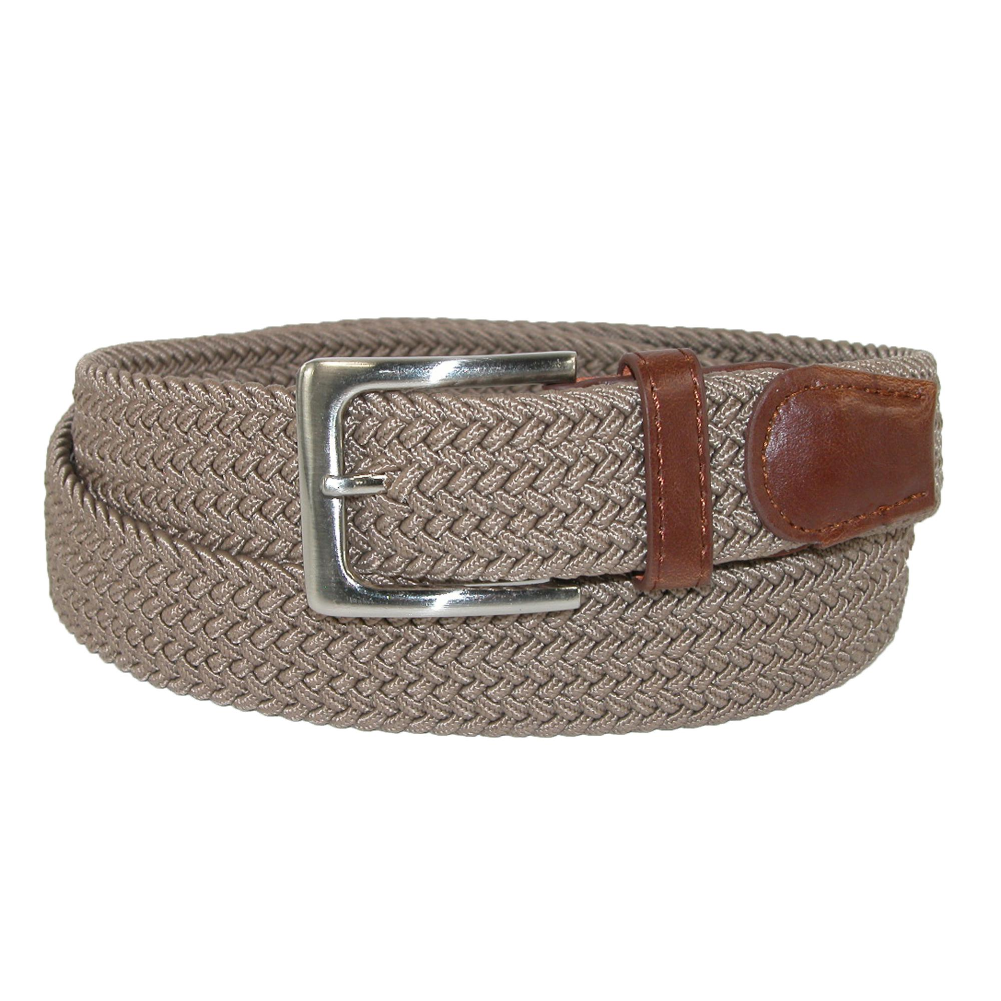 CTM_Men's_Elastic_Braided_Stretch_Belt_with_Silver_Buckle_and_Tan_Tabs