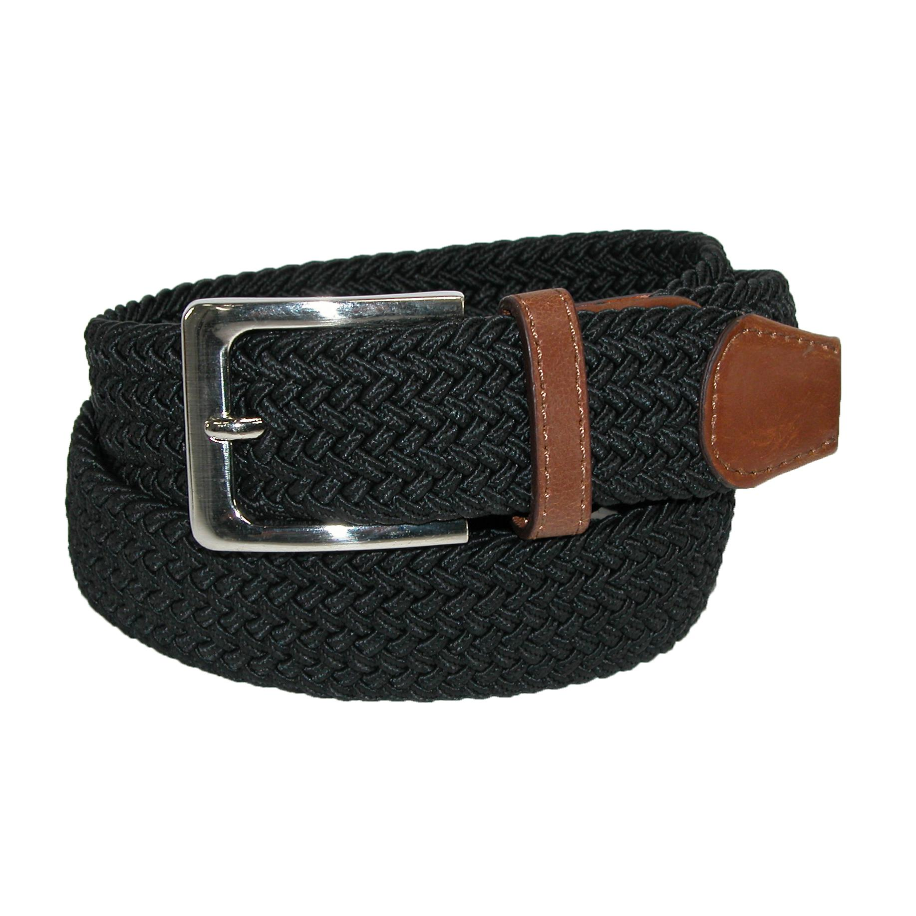 CTM_Mens_Elastic_Braided_Stretch_Belt_with_Silver_Buckle_and_Tan_Tabs