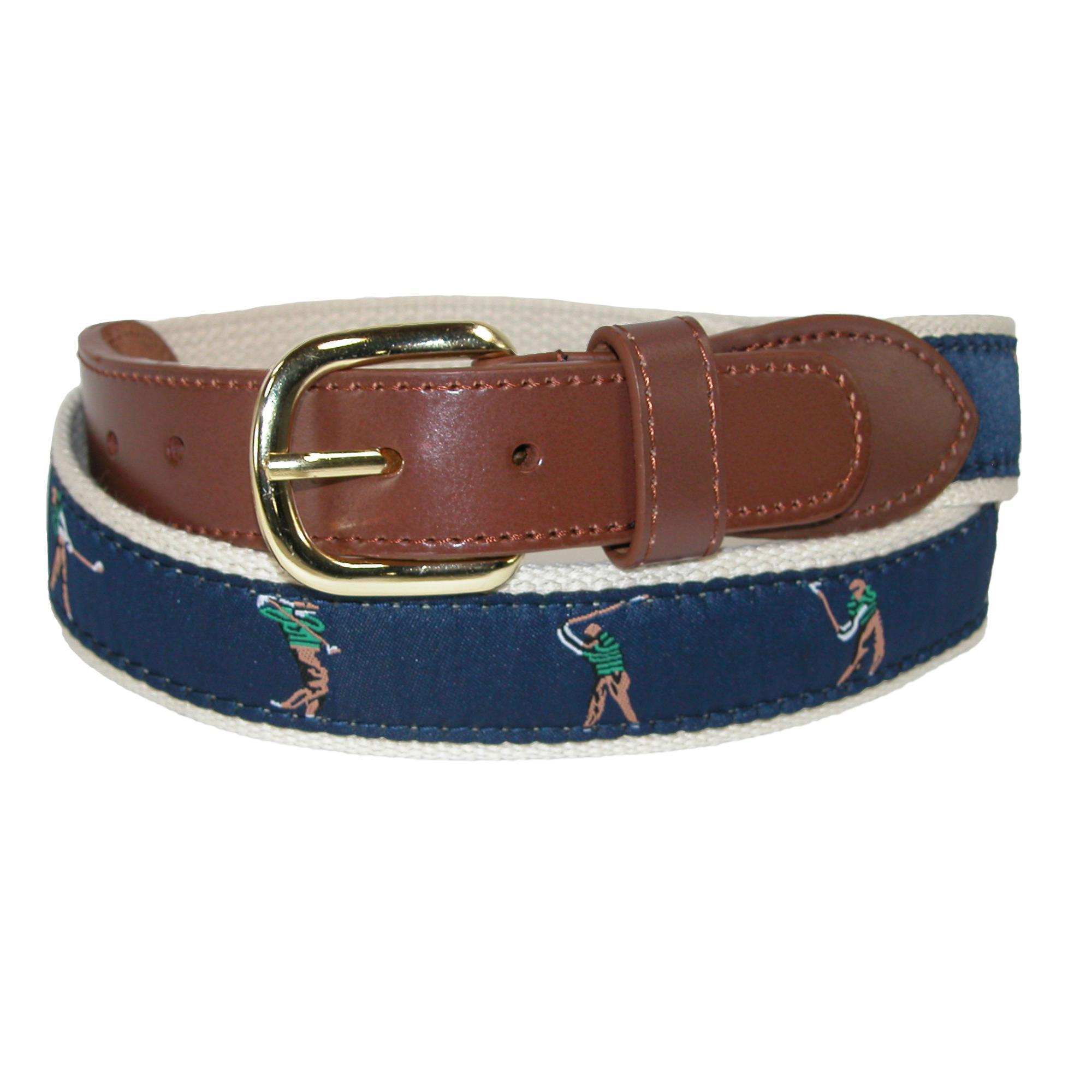 Mens Leather Eagle Pattern Alloy Gold Automatic Buckle Dress Waist Strap Belt