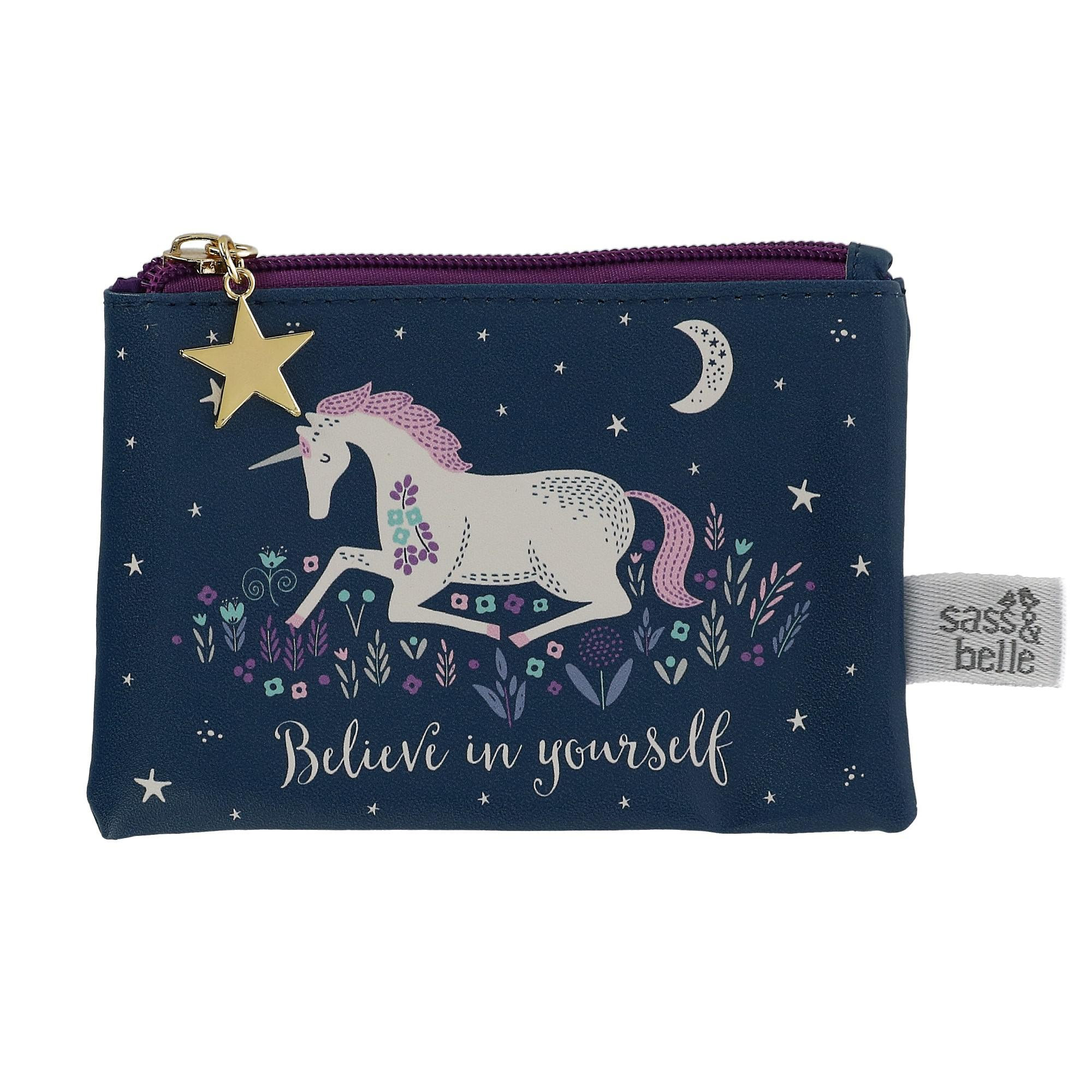 Sass & Belle Starlight Unicorn Coin Purse Wallet - (RS-FRAN057) photo