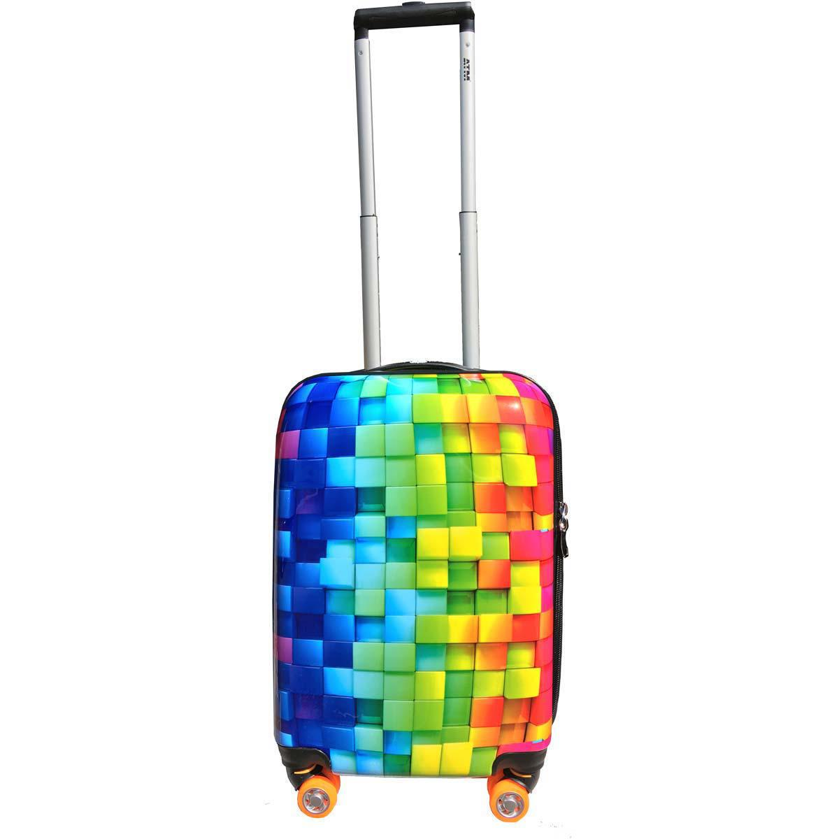Smiley 22 Inch Carry On 3D Rainbow