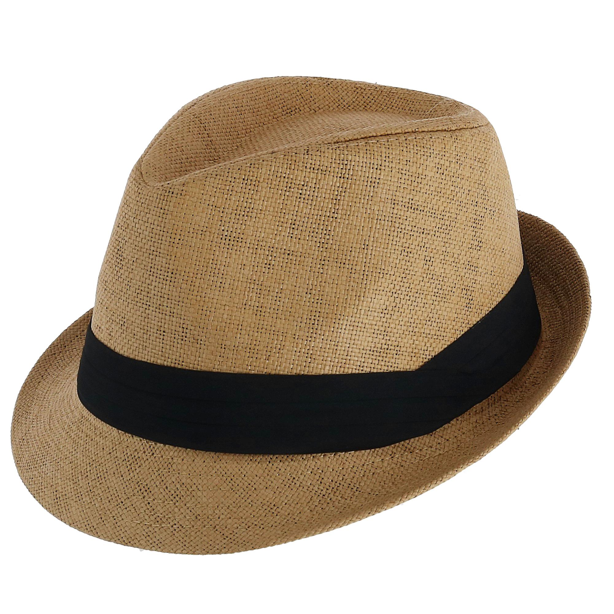 1d0988cc2 Details about New Westend Trilby Fedora Hat with Black Band