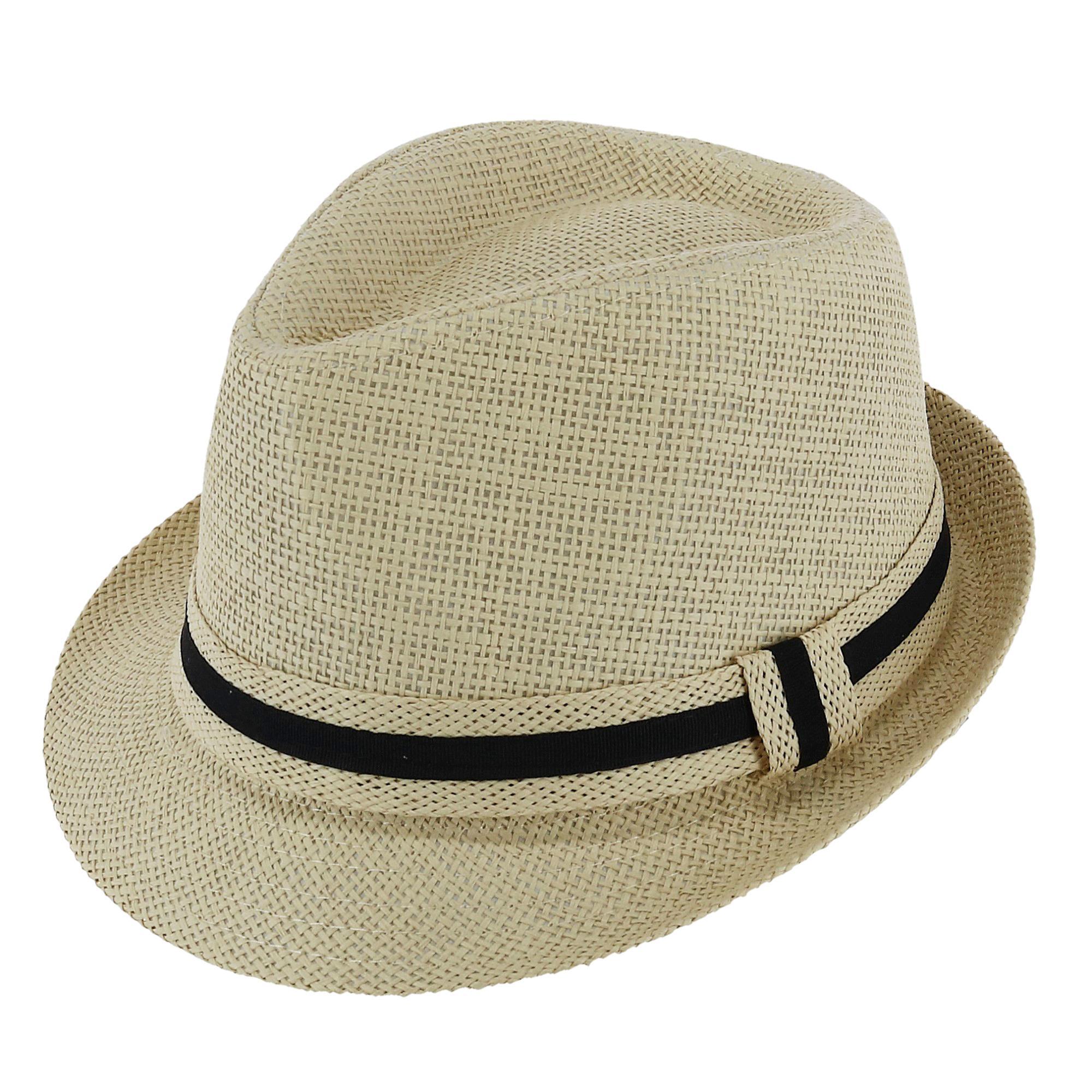225ba29c79c17 Details about New Westend Men's Short Brim Banded Fedora Hat