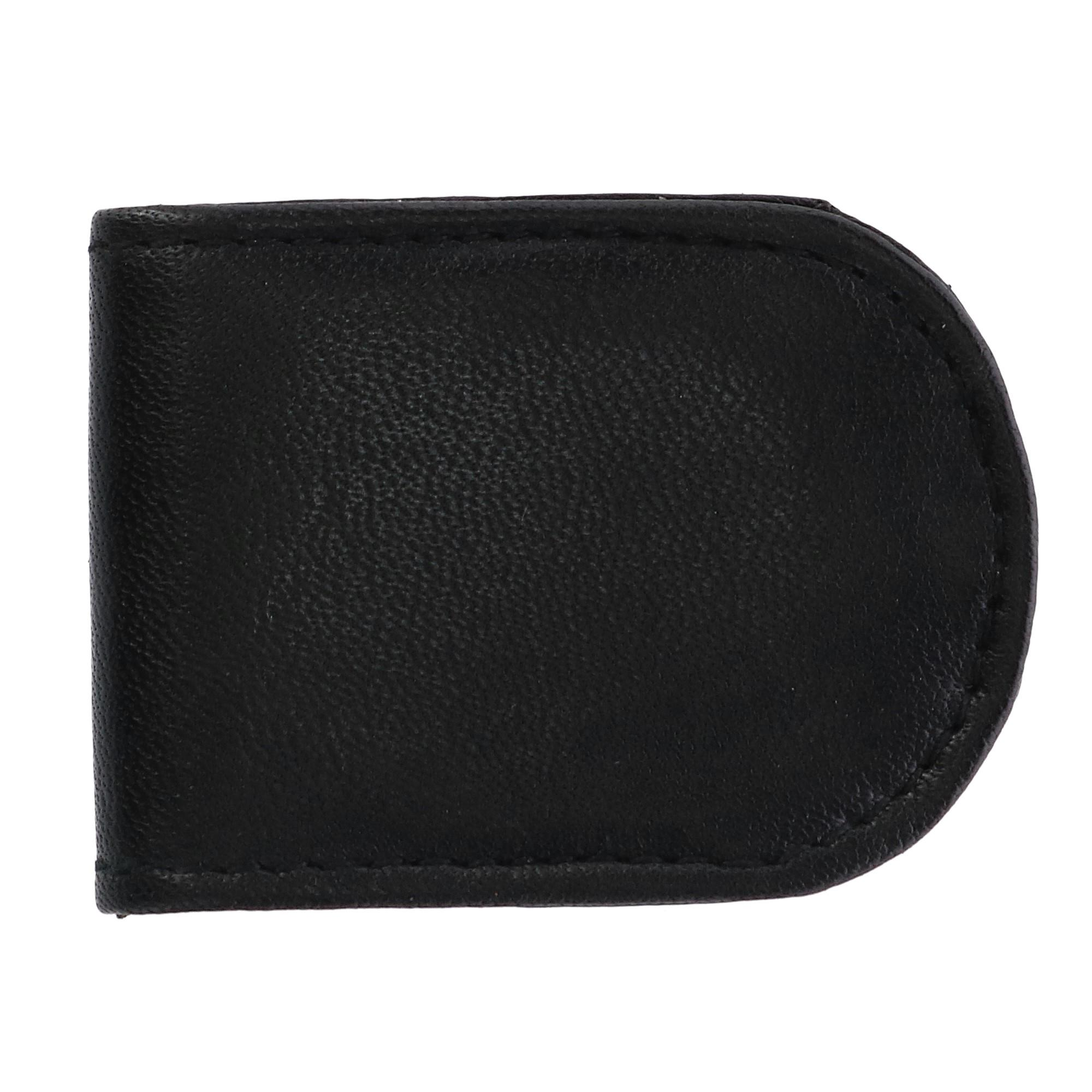 CTM Men's Basic Leather Money Clip