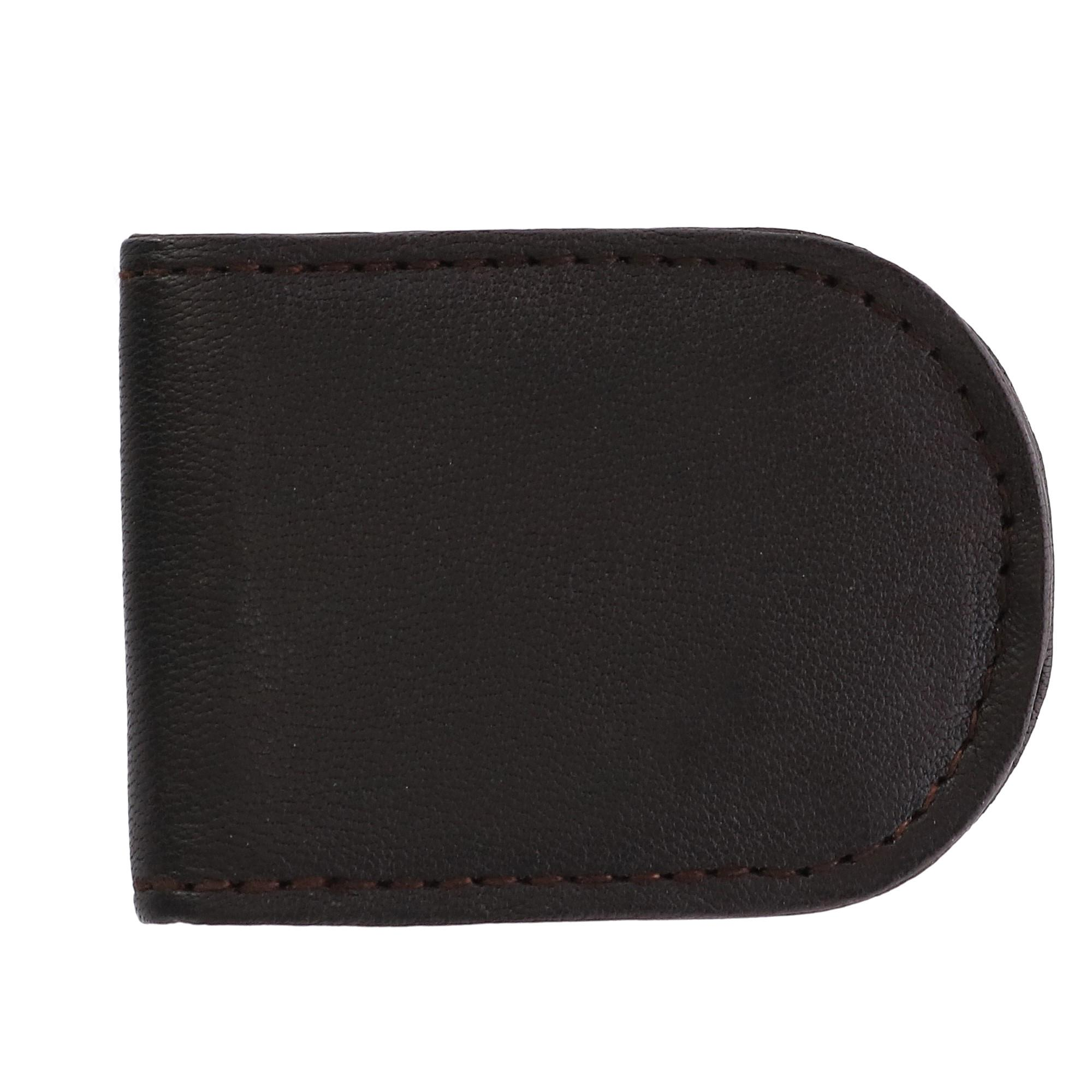 CTM Men's Basic Leather Money Clip