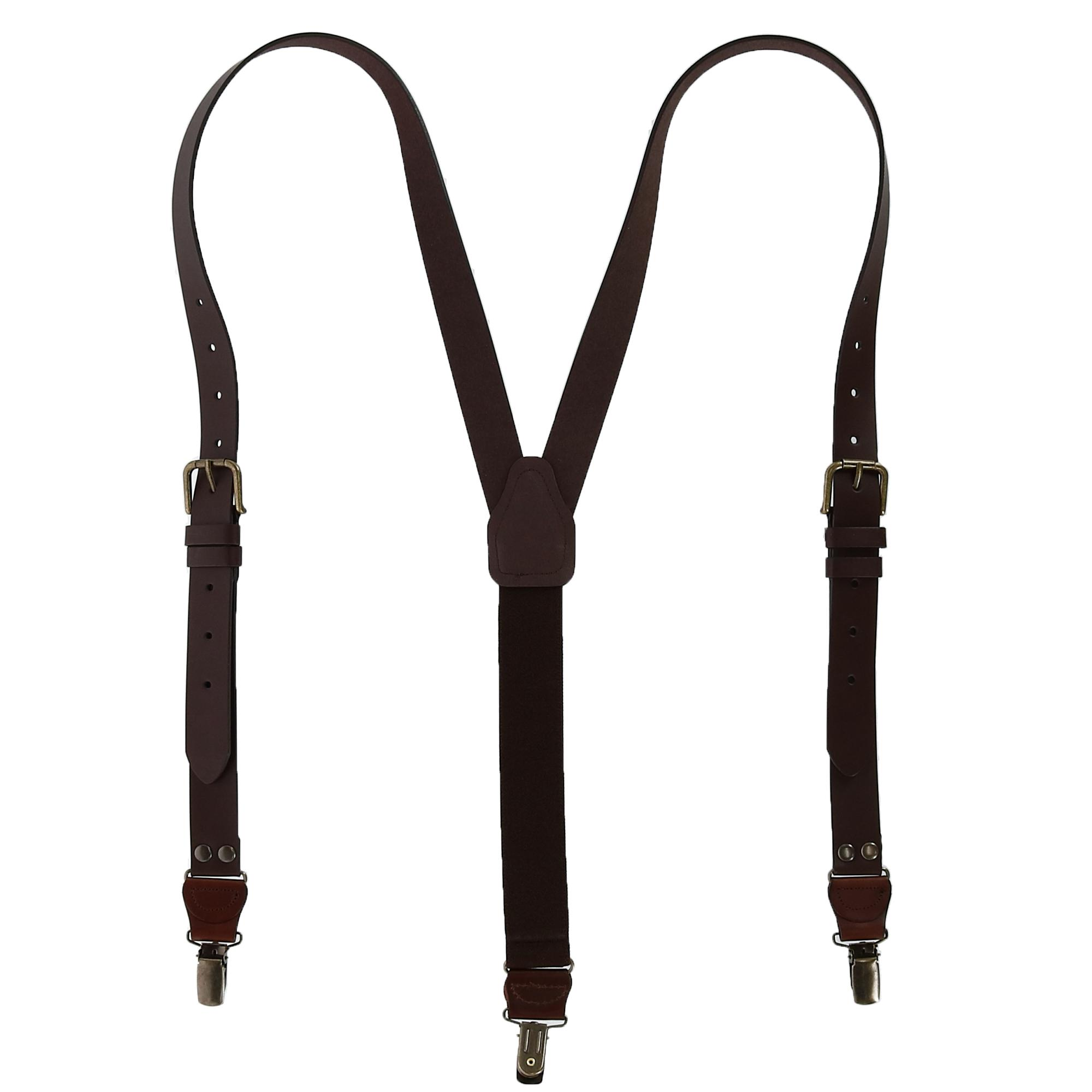 CTM_Mens_Leather_Clip_End_Suspenders_with_Buckle_Strap_Tall